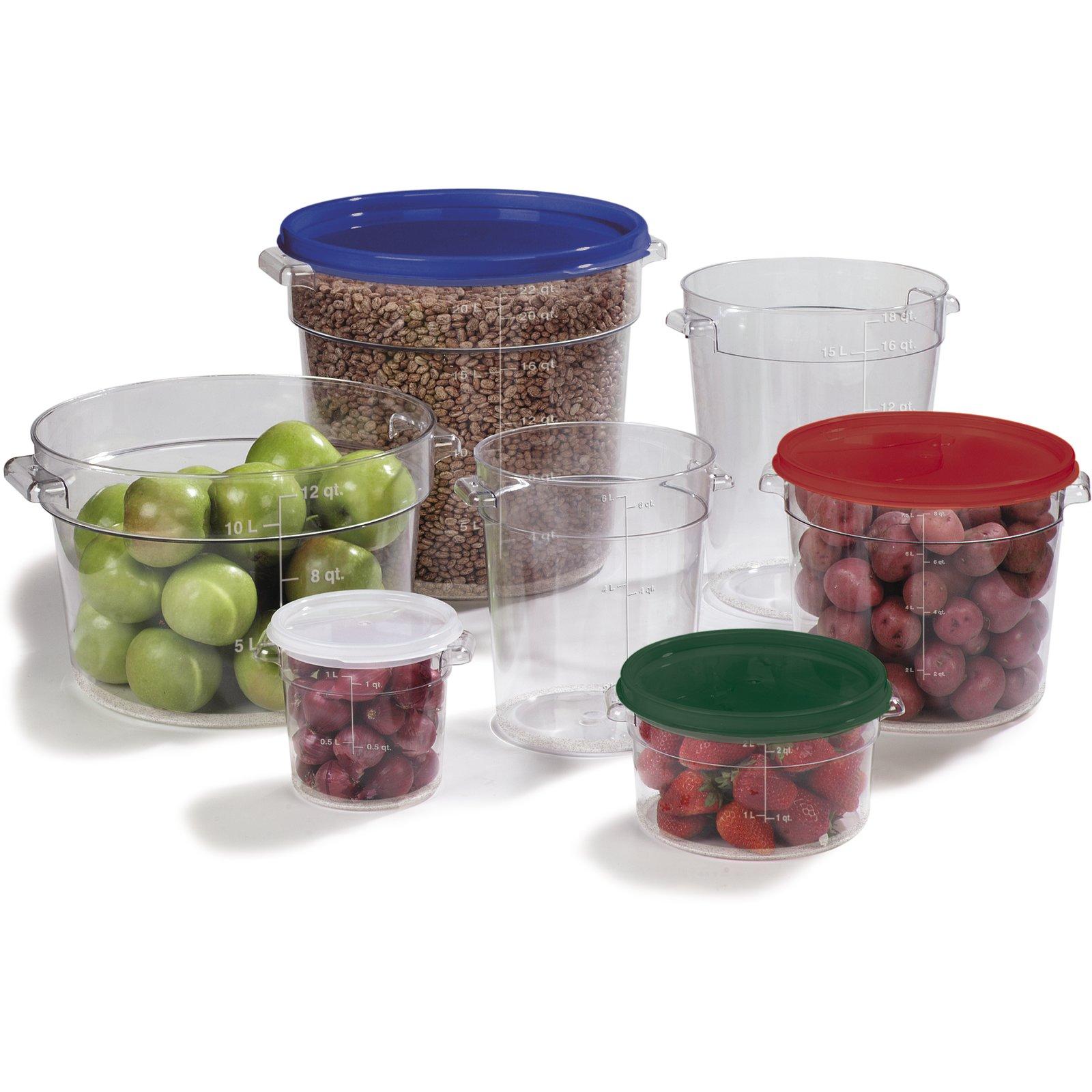 1076707 StorPlus Polycarbonate Round Food Storage Container 12 qt