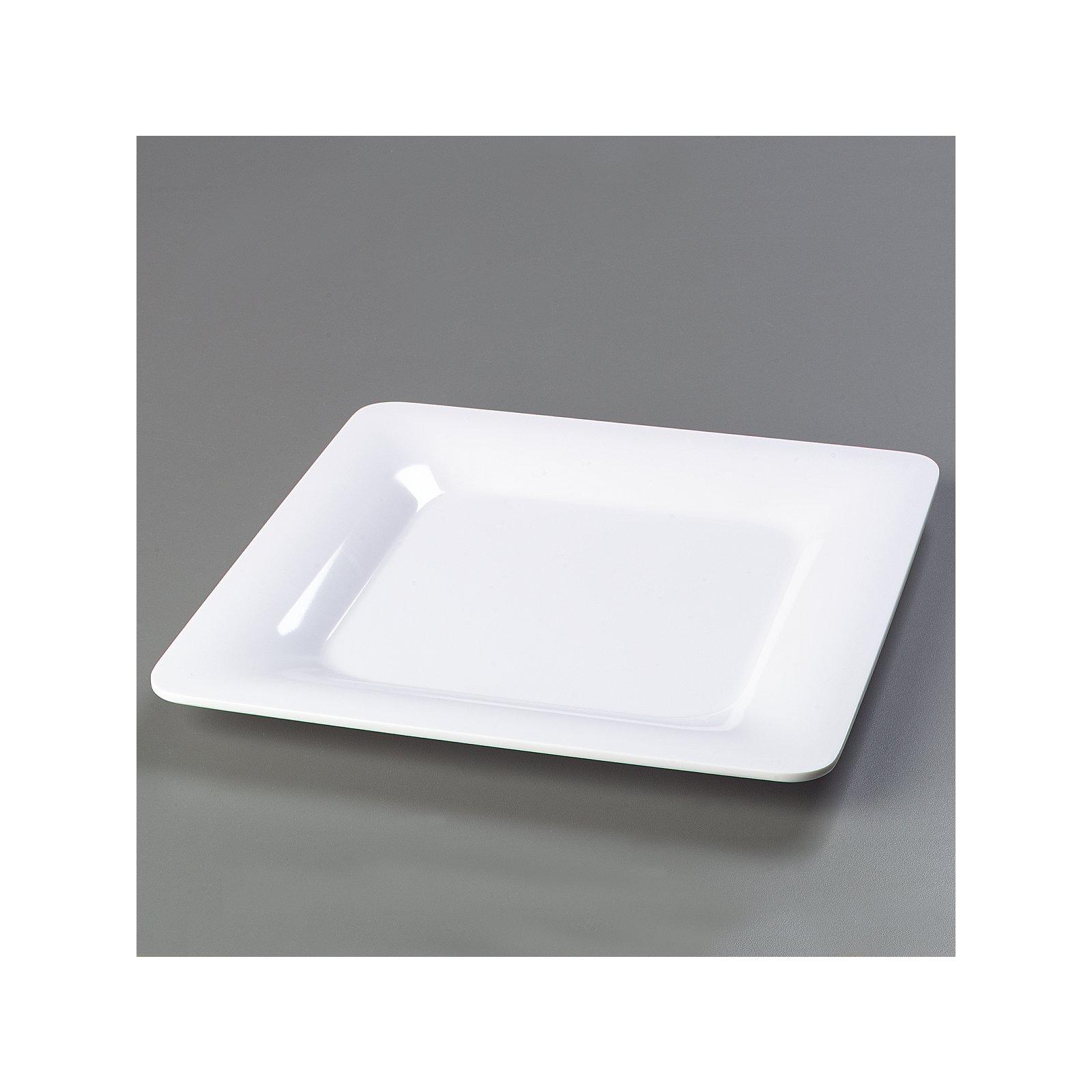 """4440002 - Designer Displayware™ Wide Rim Square Plate 12"""" - White ... for Square Plate Designs  150ifm"""