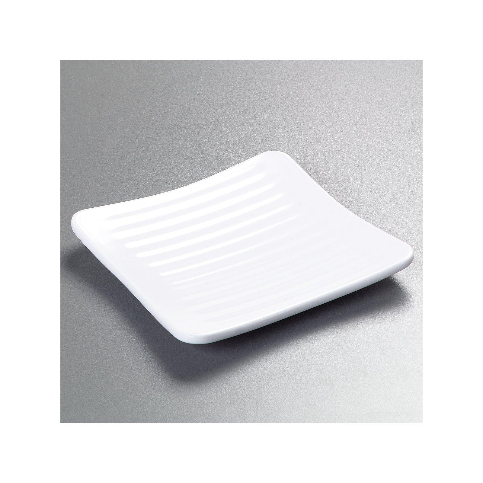 ... 4382202 - Epicure® Melamine Square Plate 6.25\  - White  sc 1 st  Carlisle FoodService Products & 4382202 - Epicure® Melamine Square Plate 6.25\