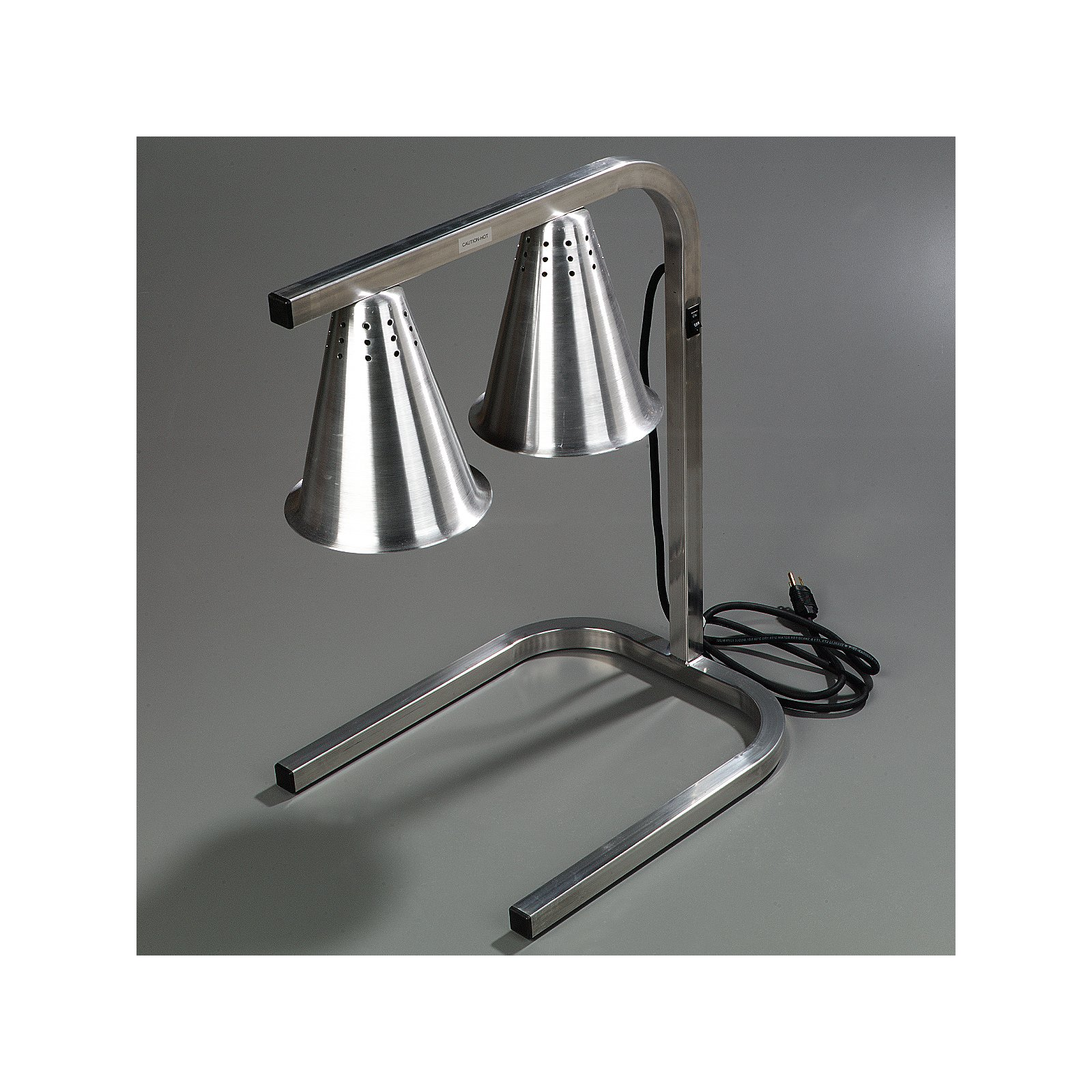 Hl723700 Two Bulb Free Standing Adjustable Heat Lamp Aluminum Carlisle Foodservice Products