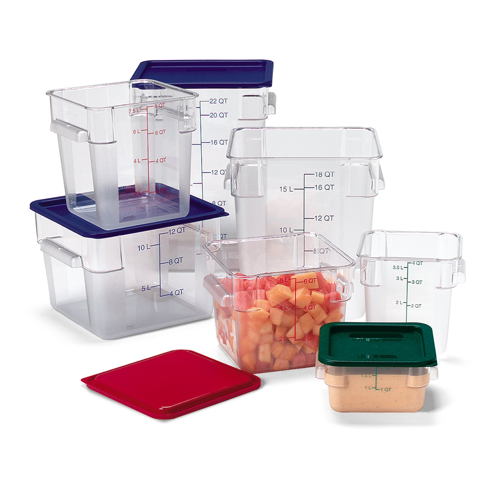 ... 1072107 - StorPlus Polycarbonate Square Food Square Container 4 qt -  Clear