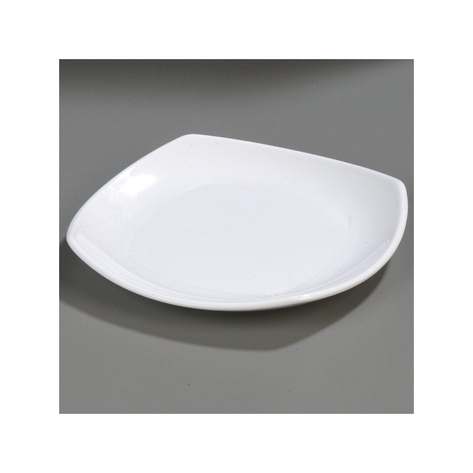 ... 4330602 - Melamine Upturned Corner Medium Square Plate 9.5\  - White  sc 1 st  Carlisle FoodService Products & 4330602 - Melamine Upturned Corner Medium Square Plate 9.5\