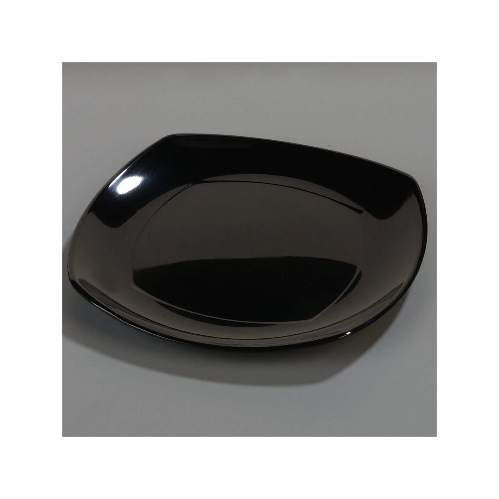... 4330803 - Melamine Upturned Corner Small Square Plate 7.75  - Black  sc 1 st  Carlisle FoodService Products & 4330803 - Melamine Upturned Corner Small Square Plate 7.75
