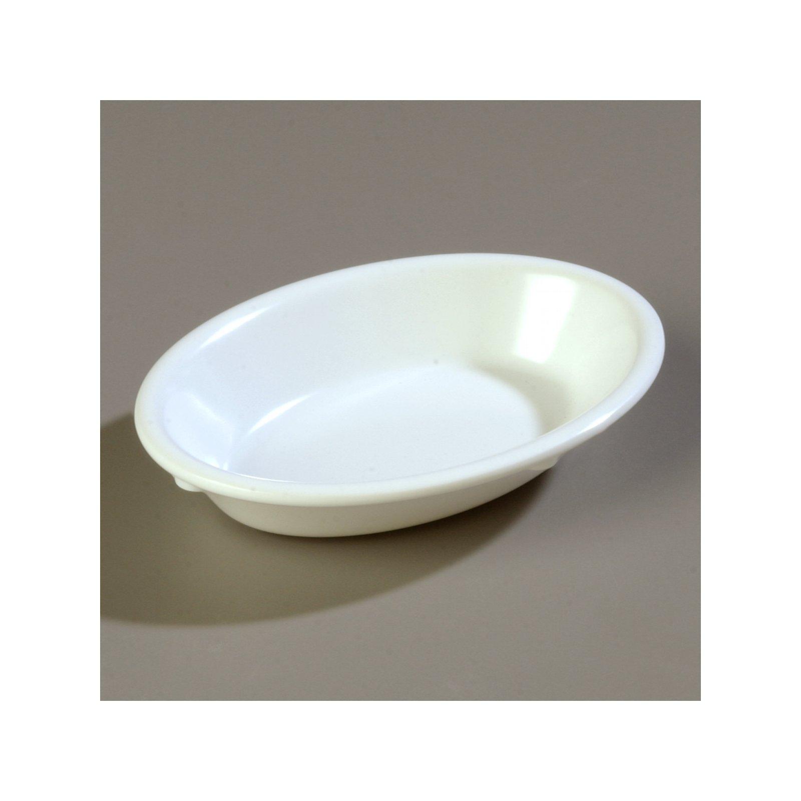 4353302 Dallas Ware Melamine Oval Fruit Bowl 6 5oz White Carlisle Foodservice Products