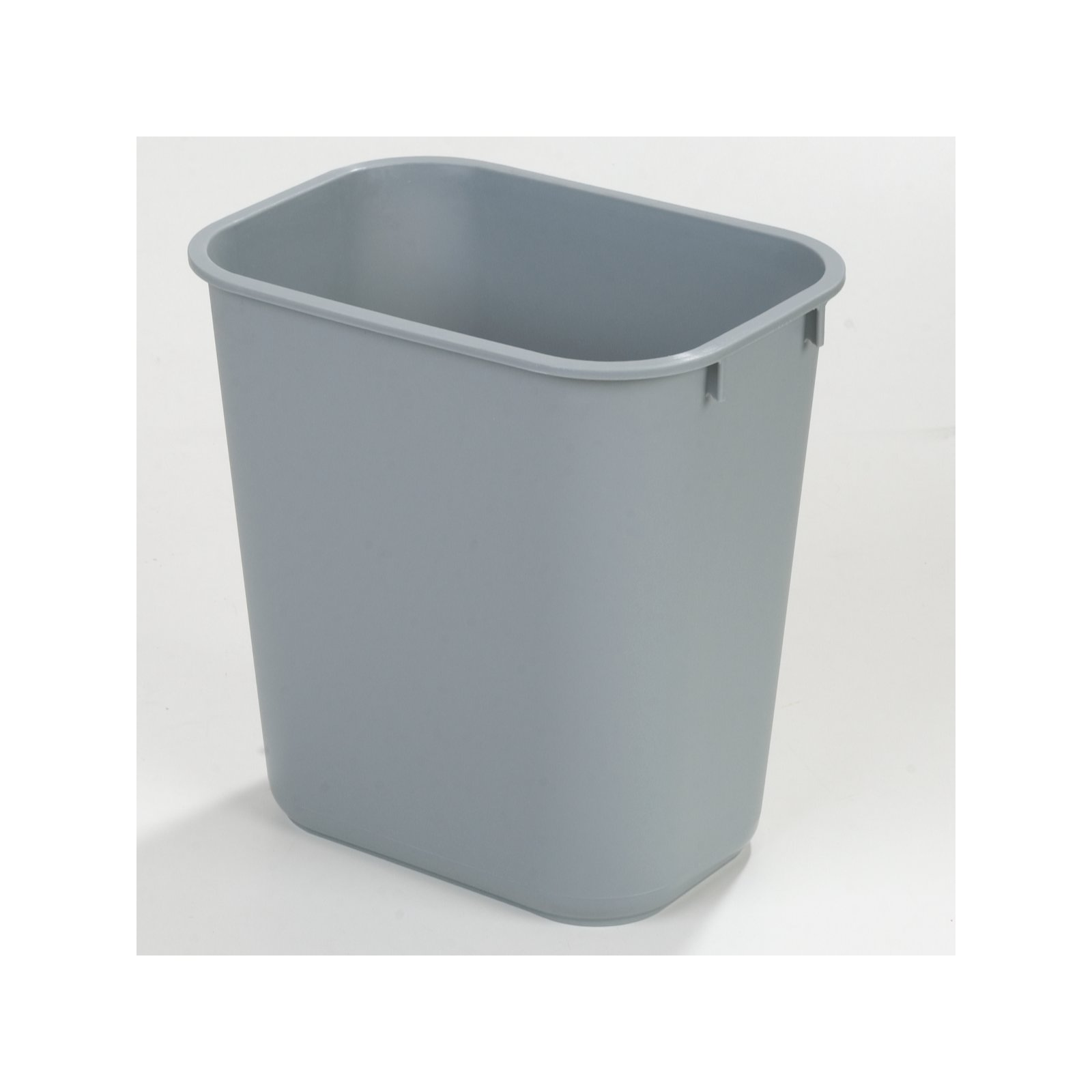 ... 34291323   Small Rectangle Office Wastebasket Trash Can 13 Quart   Gray