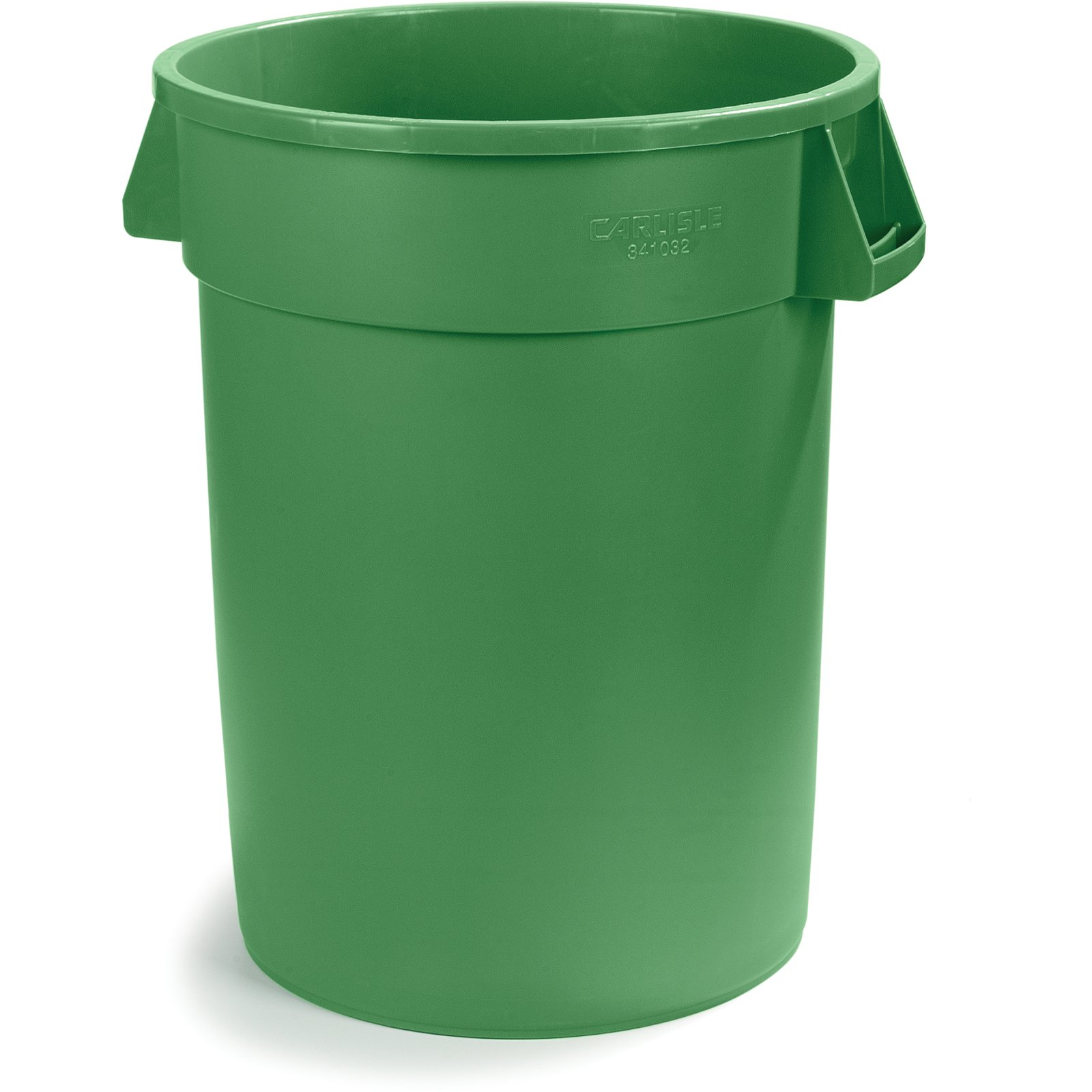 34103209 bronco round waste bin trash container 32 gallon green carlisle foodservice products - Garden waste containers ...