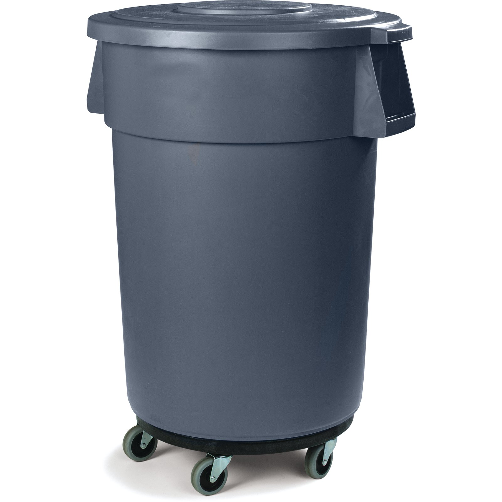 Bronco™ Round Waste Container Trash Can Dolly with