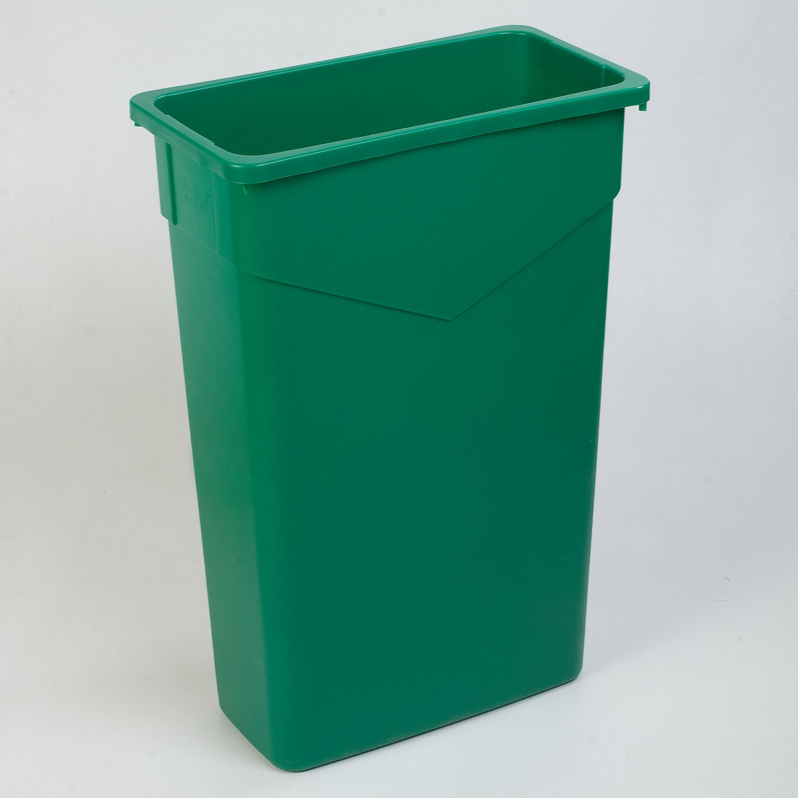 34202309 trimline rectangle waste container trash can 23 gallon green carlisle - Rectangular garbage cans ...