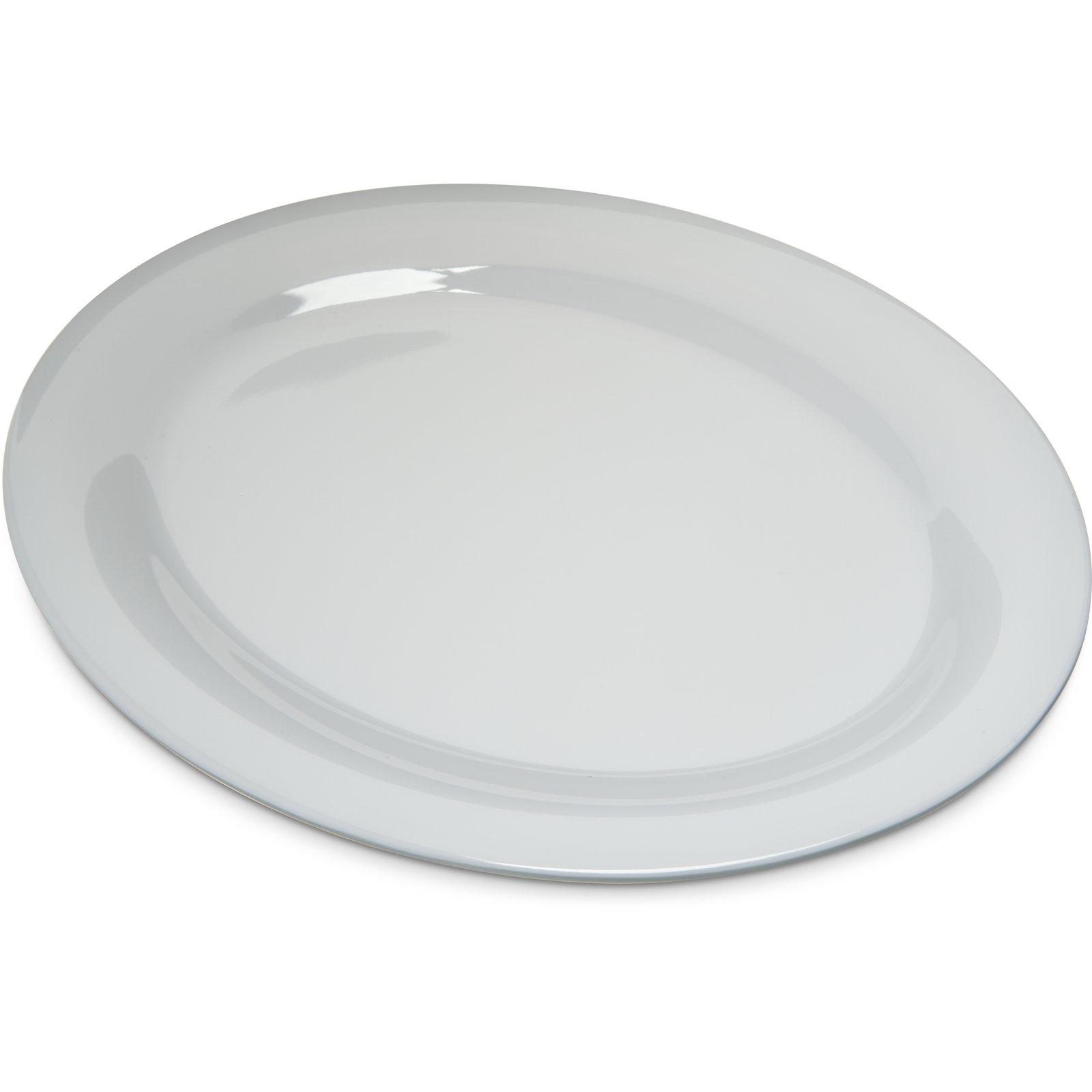 4308202 Durus Melamine Oval Platter Tray 12 X 9 White Carlisle Foodservice Products