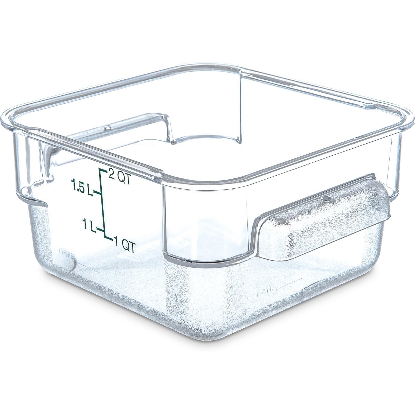 1072007 StorPlus Polycarbonate Square Food Storage Container 2 qt