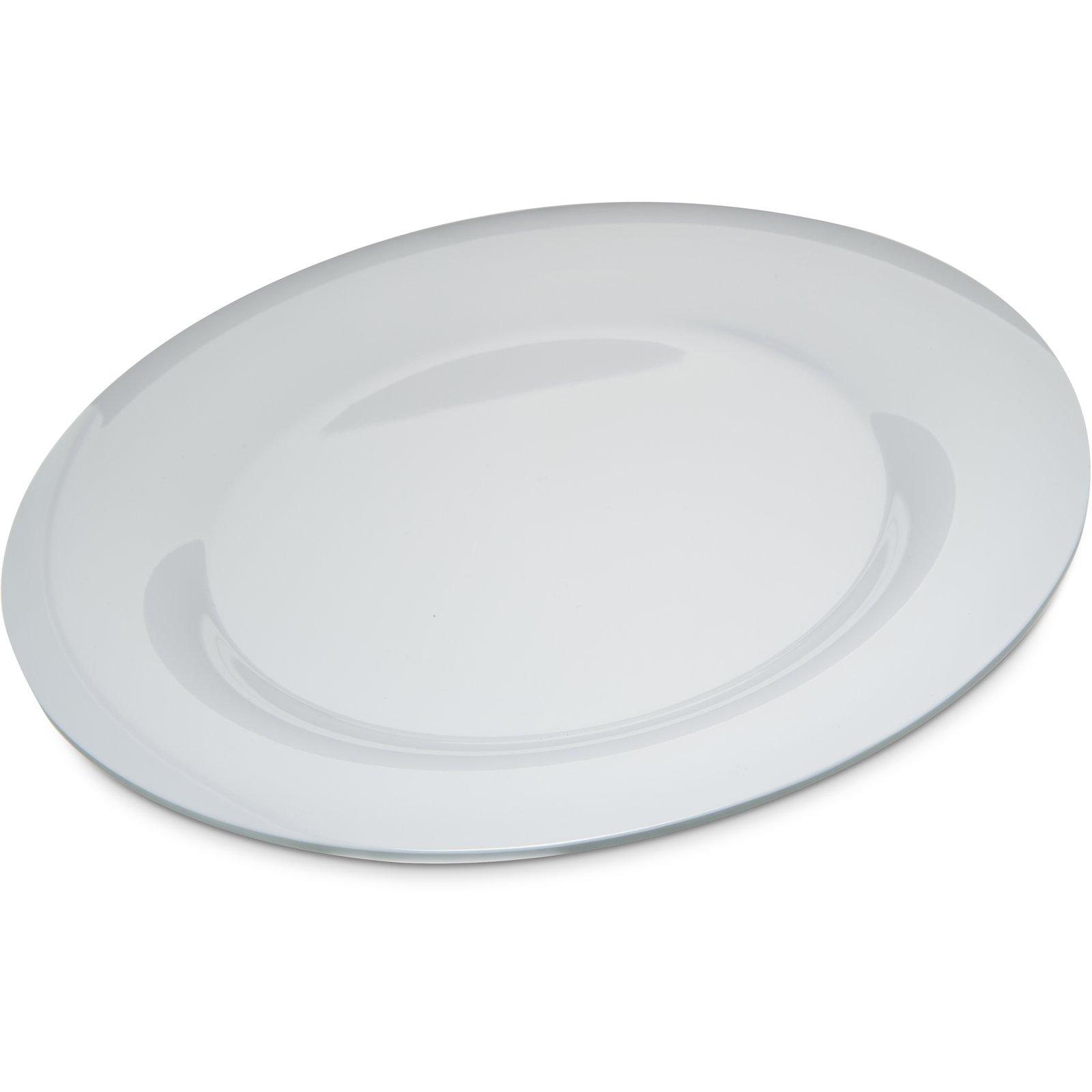 4302402 Designer Displayware Durus Melamine Wide Rim Round Plate 12 White Carlisle Foodservice Products