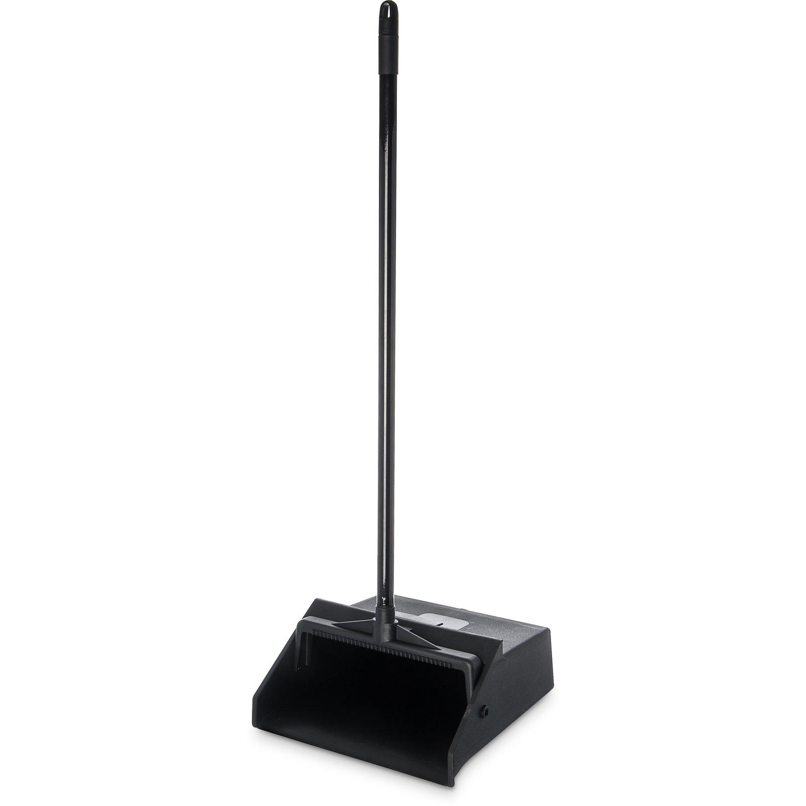 "Carlisle Duo-Pan™ Upright Lobby Pan Plastic 12/"" Wide 30/"" Handle Black 361410"