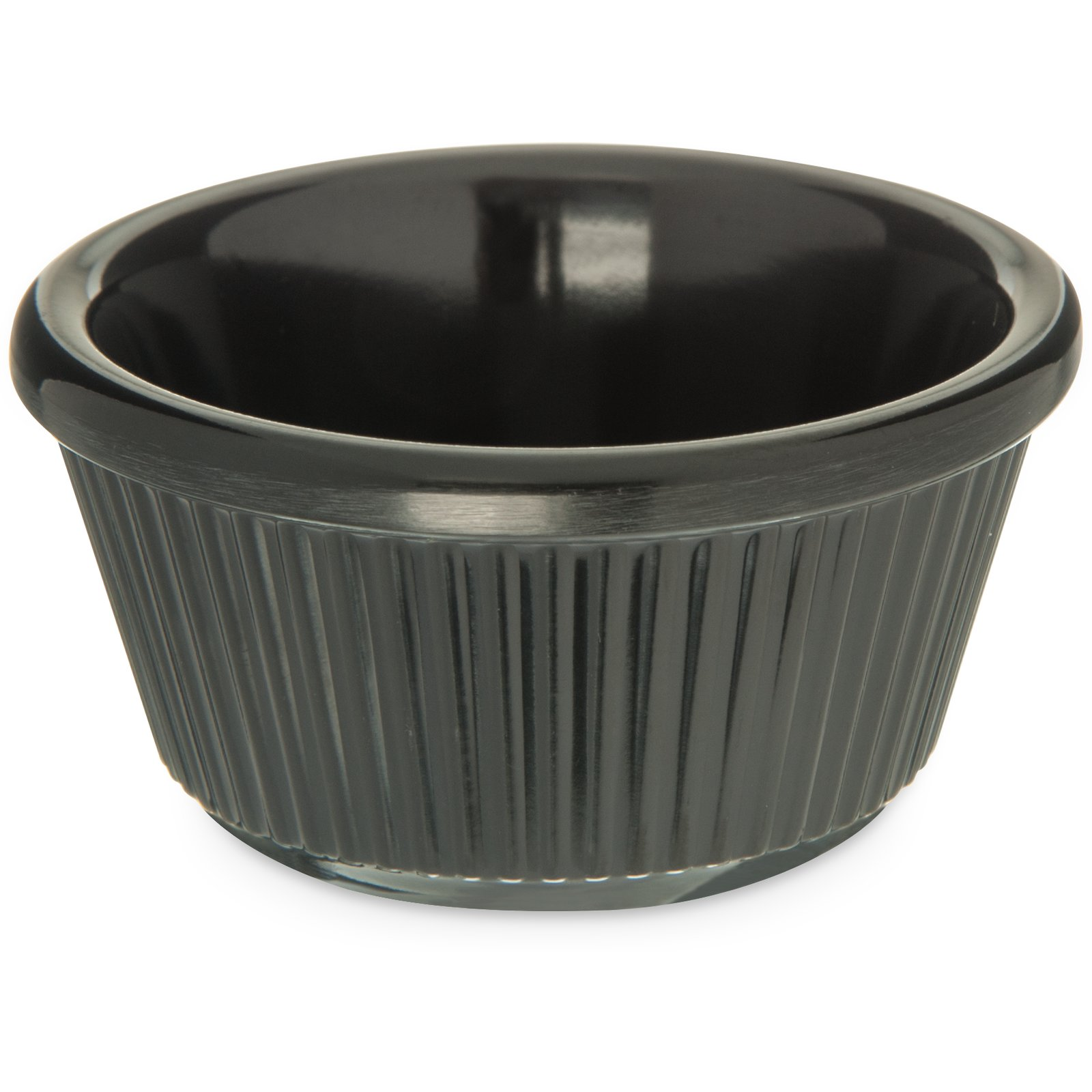 S28203 Melamine Fluted Ramekin 3 Oz Black Carlisle Foodservice Products