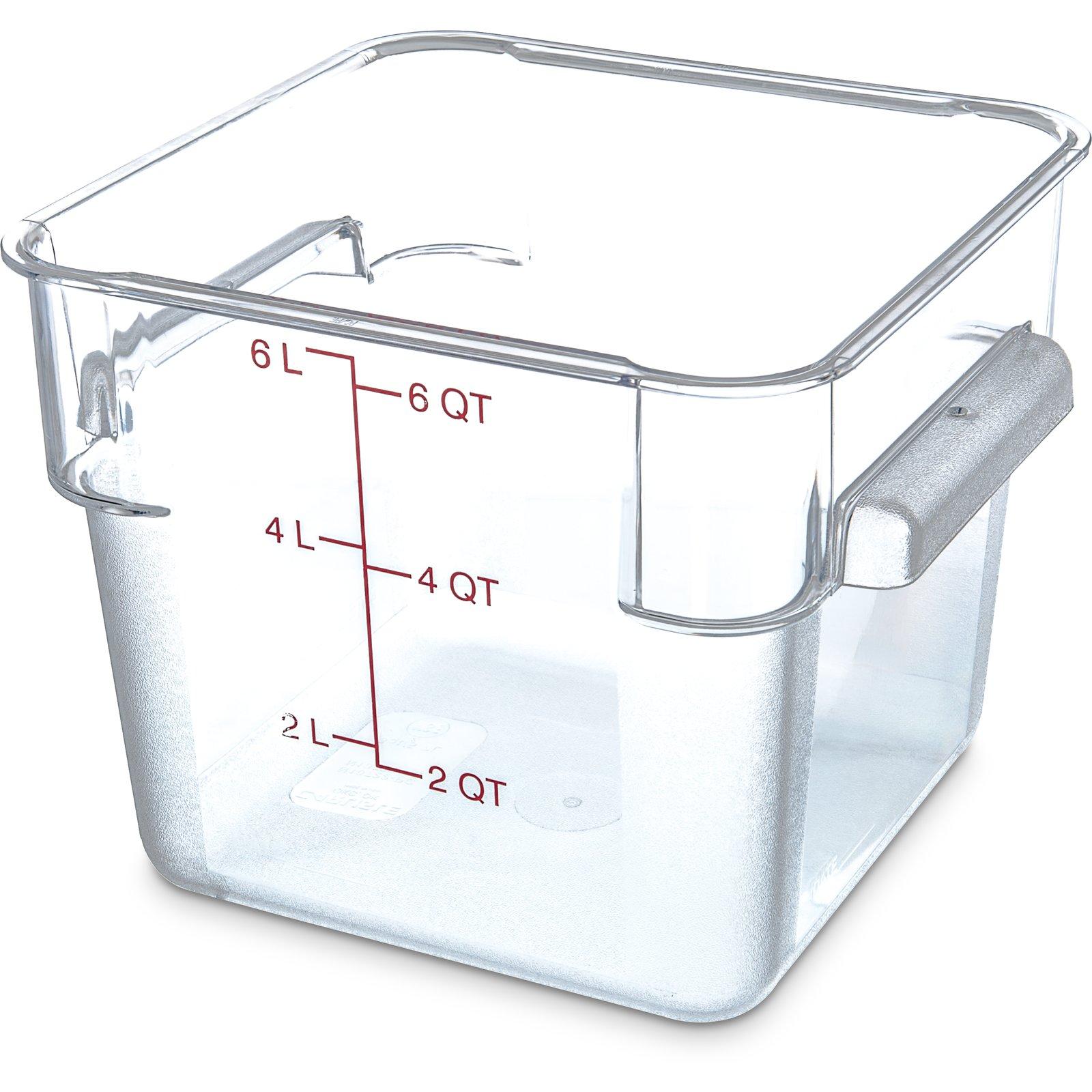 1072207 StorPlus Polycarbonate Square Food Storage Container 6 qt