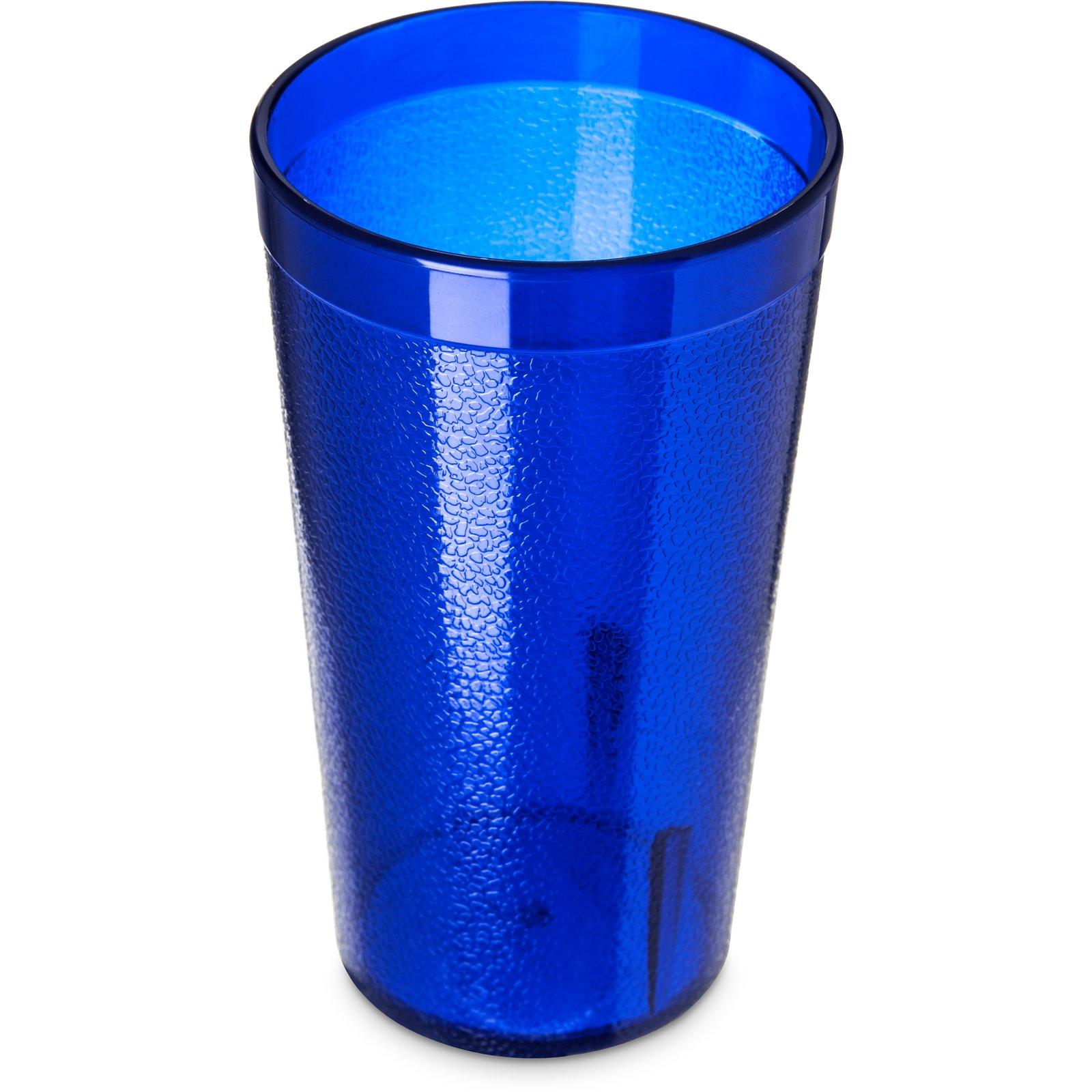 521247 Stackable San Plastic Tumbler 12 Oz Royal Blue Carlisle Foodservice Products