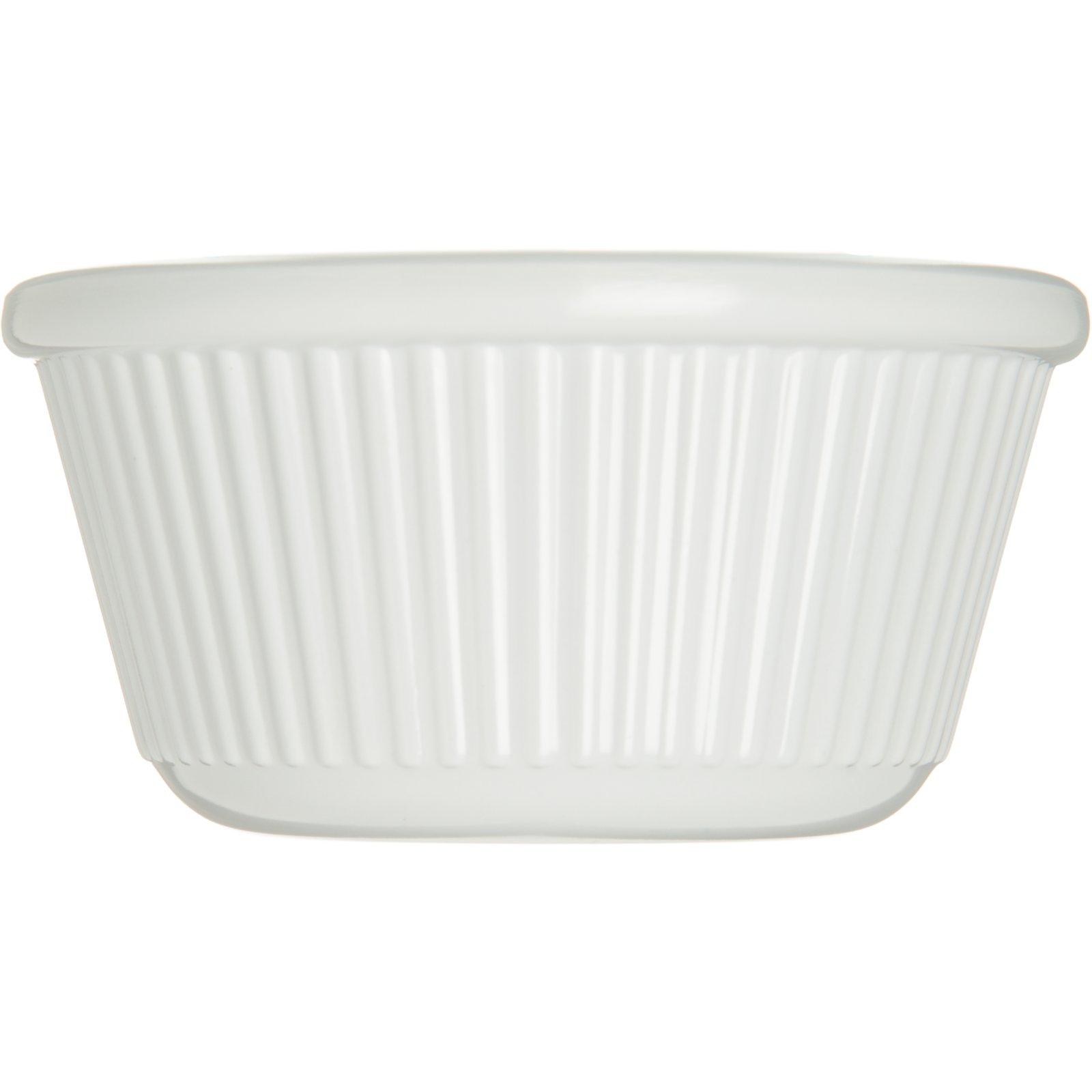 S28202 Melamine Fluted Ramekin 3 Oz White Carlisle Foodservice Products