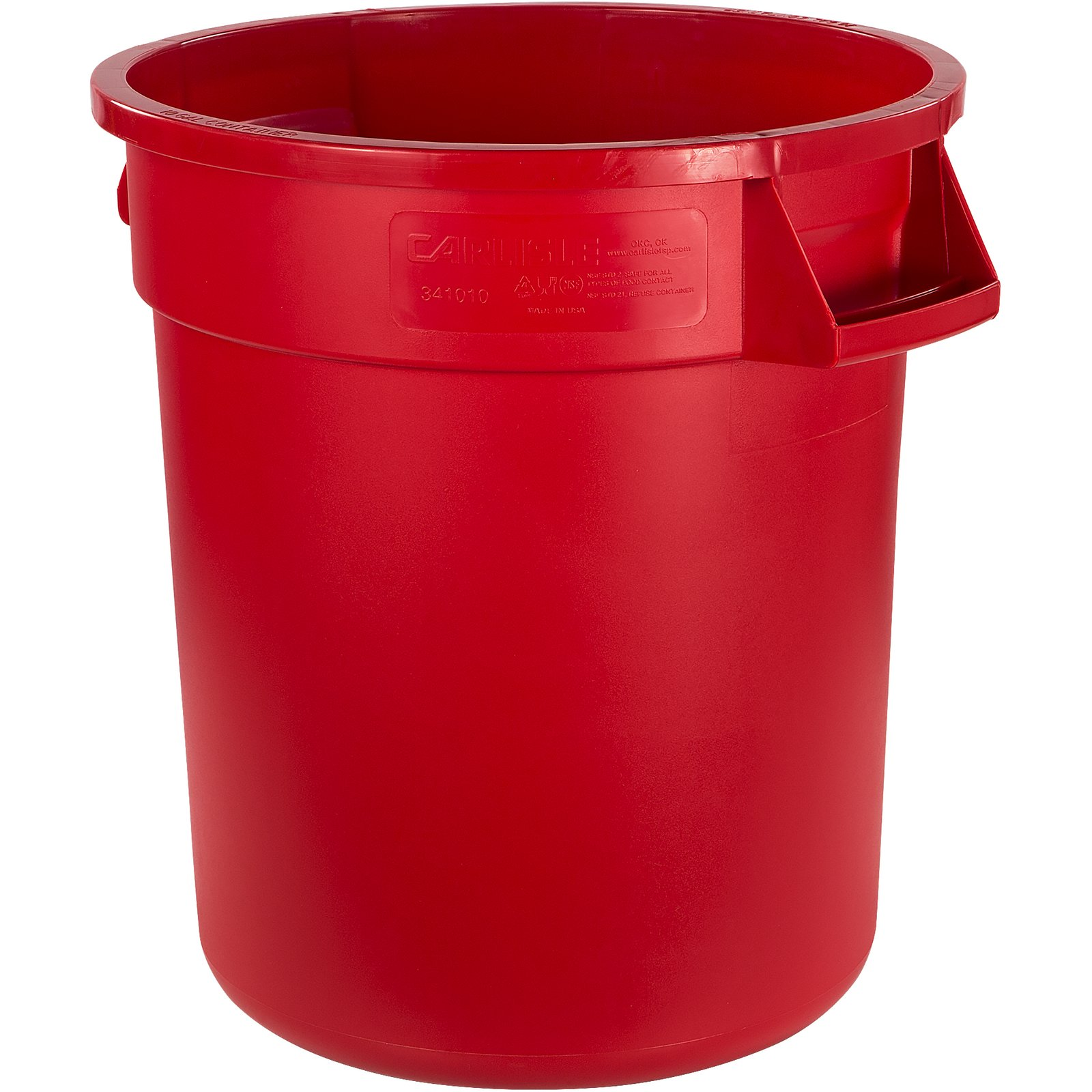 34101005 Bronco Round Waste Bin Food Container 10 Gallon Red