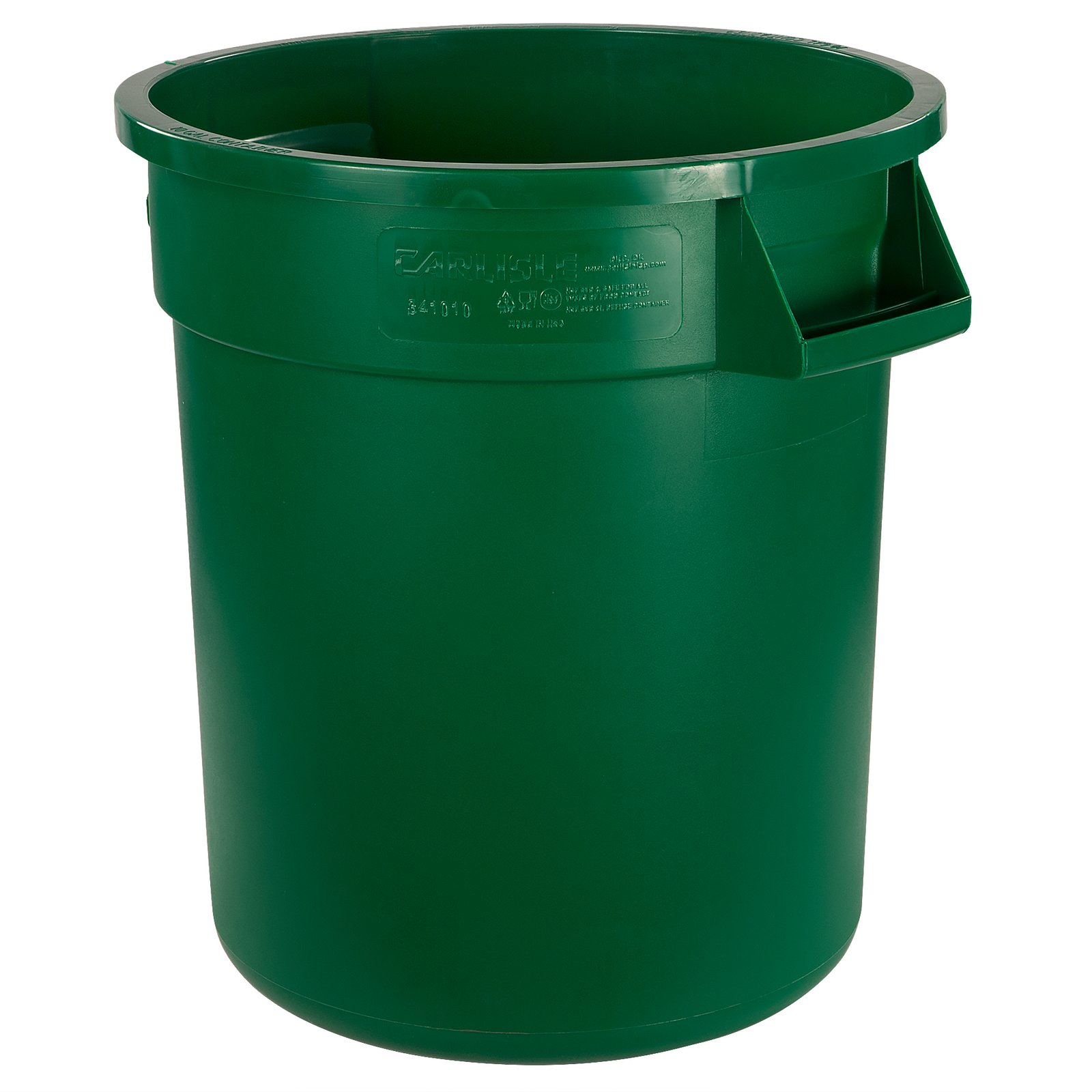 34101009 bronco round waste bin food container 10 gallon green carlisle foodservice products - Garden waste containers ...