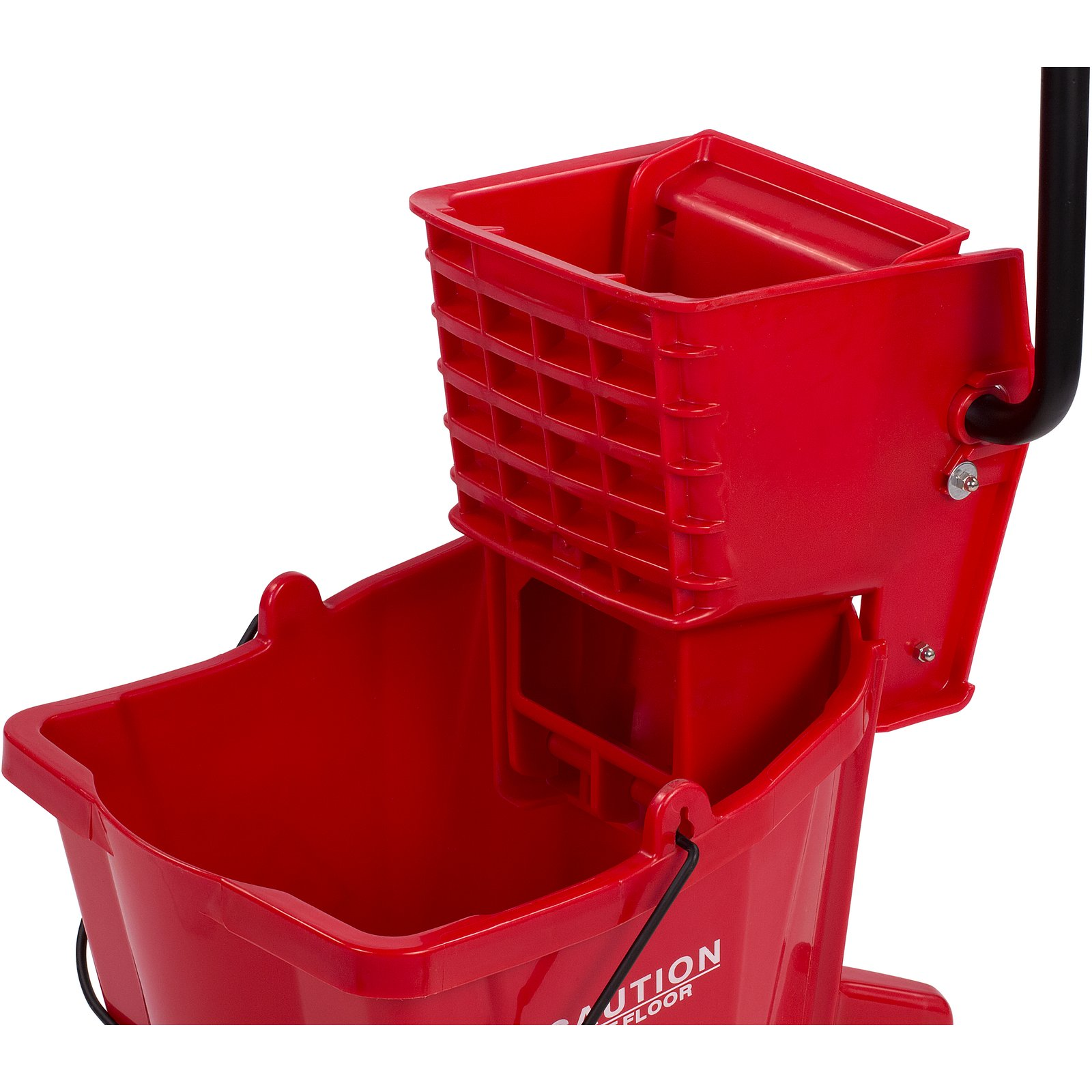 Red mop bucket with wringer silicone glue sticks