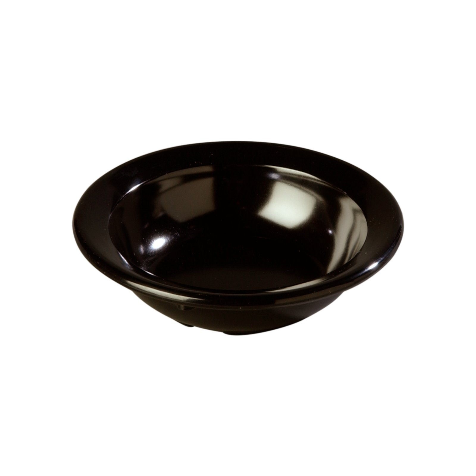 4353203 Dallas Ware Melamine Fruit Bowl 3 5oz Black Carlisle Foodservice Products
