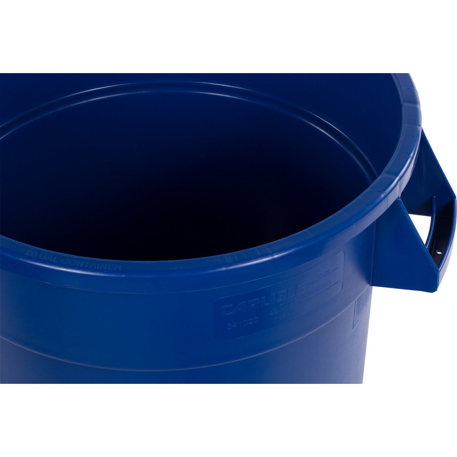 20 gallon bucket. 341020REC14 - Bronco™ Round RECYCLE Container 20 Gallon Blue Bucket