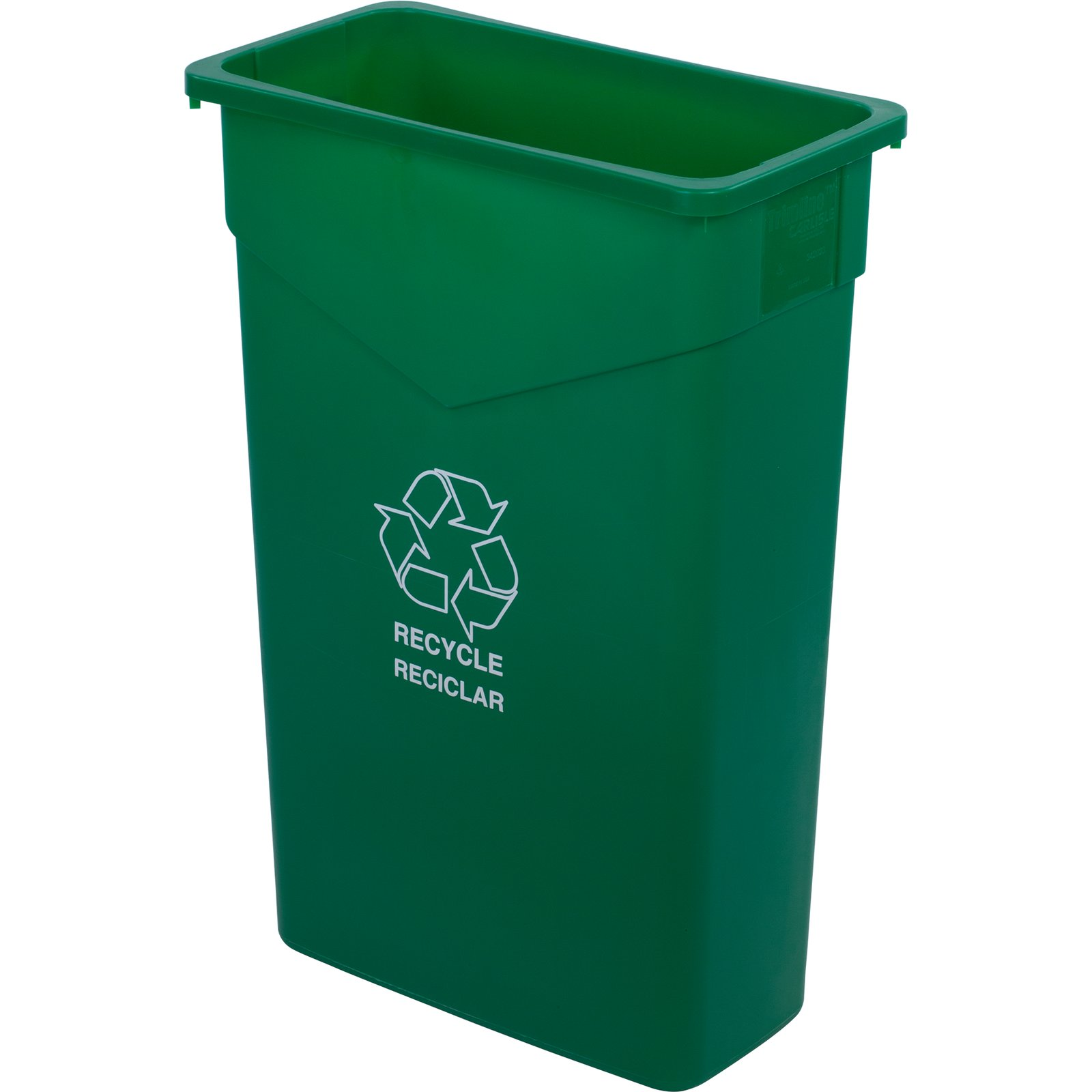 342023REC09 TrimLine Rectangle RECYCLE Waste Container 23 Gallon