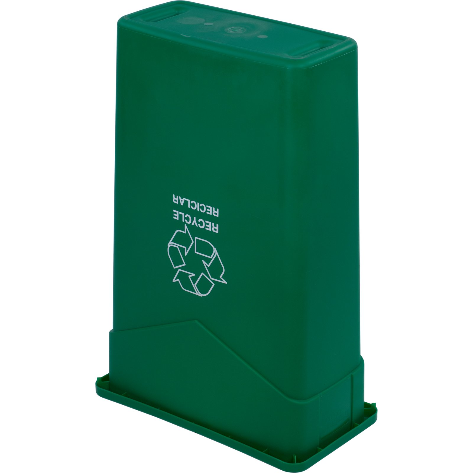 342023rec09 trimline rectangle recycle waste container 23 gallon green carlisle - Garden waste containers ...