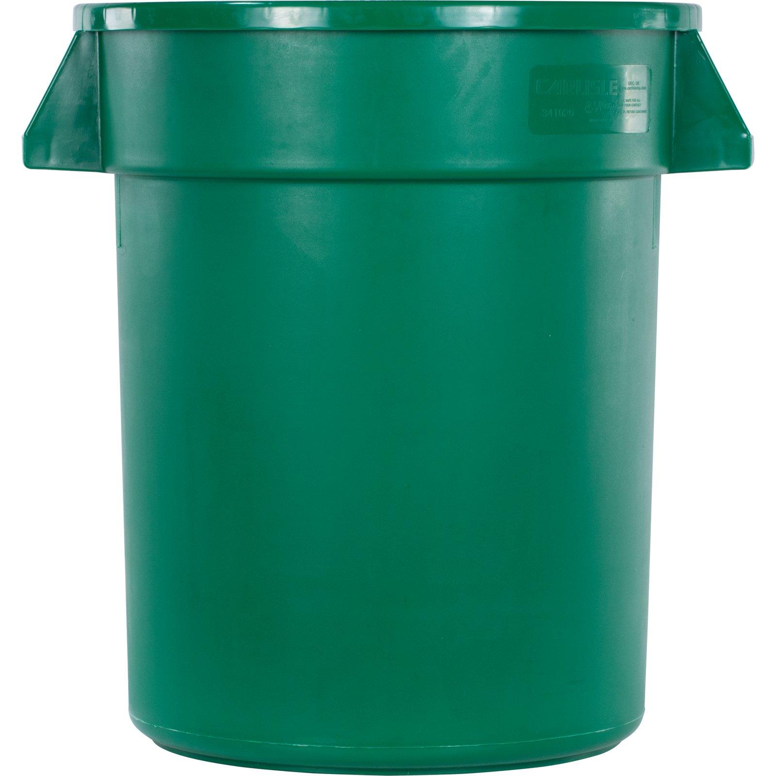 34102009 - Bronco™ Round Waste Bin Food Container 20 Gallon - Green ...