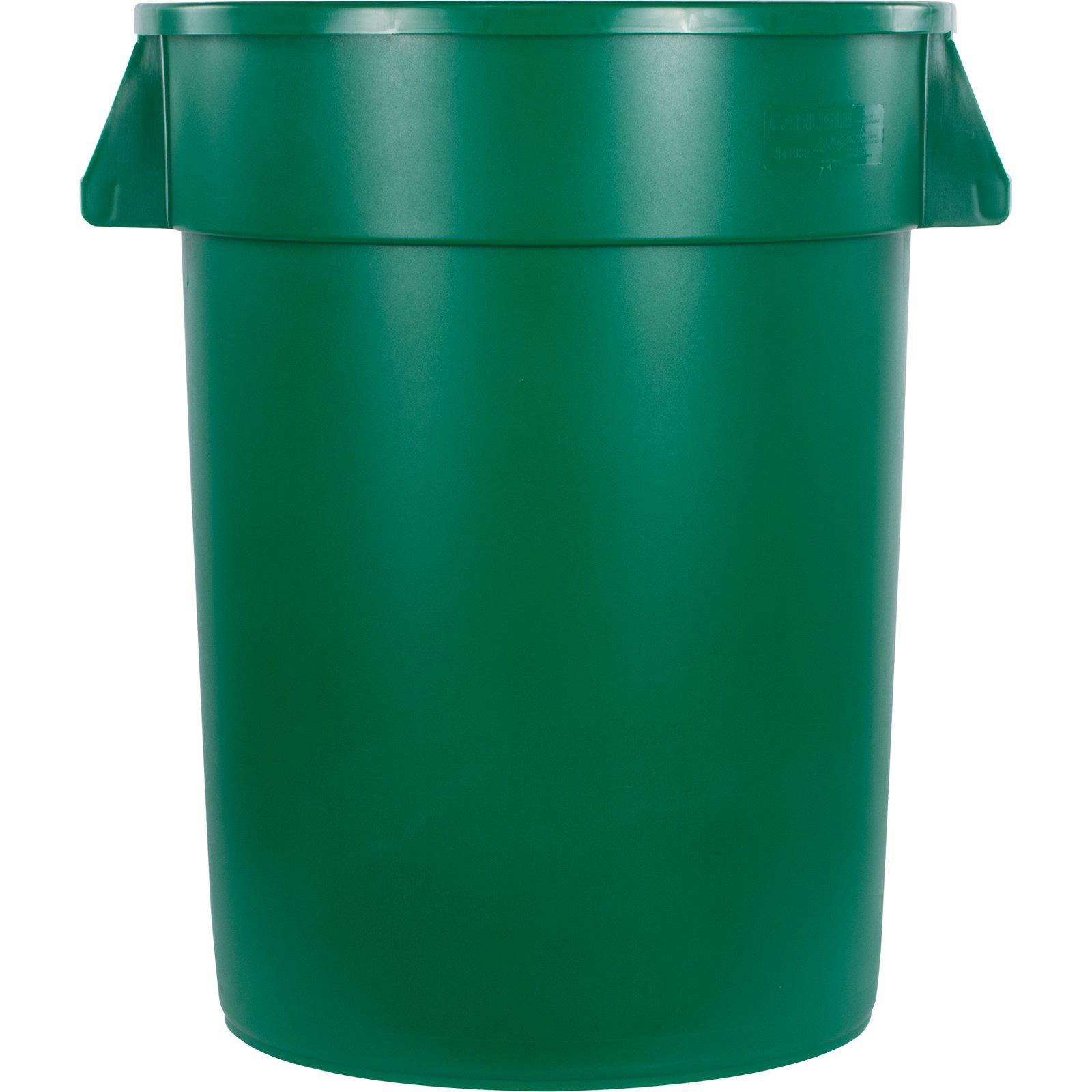 34103209 - Bronco™ Round Waste Bin Trash Container 32 Gallon - Green ...