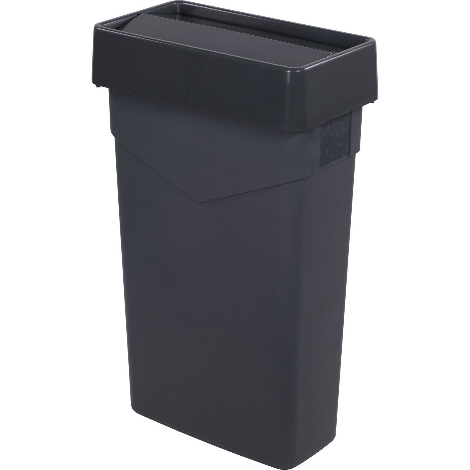 trimline™ rectangle swing top waste container trash can  -    trimline™ rectangle swing top waste container trash can lid and  gallon