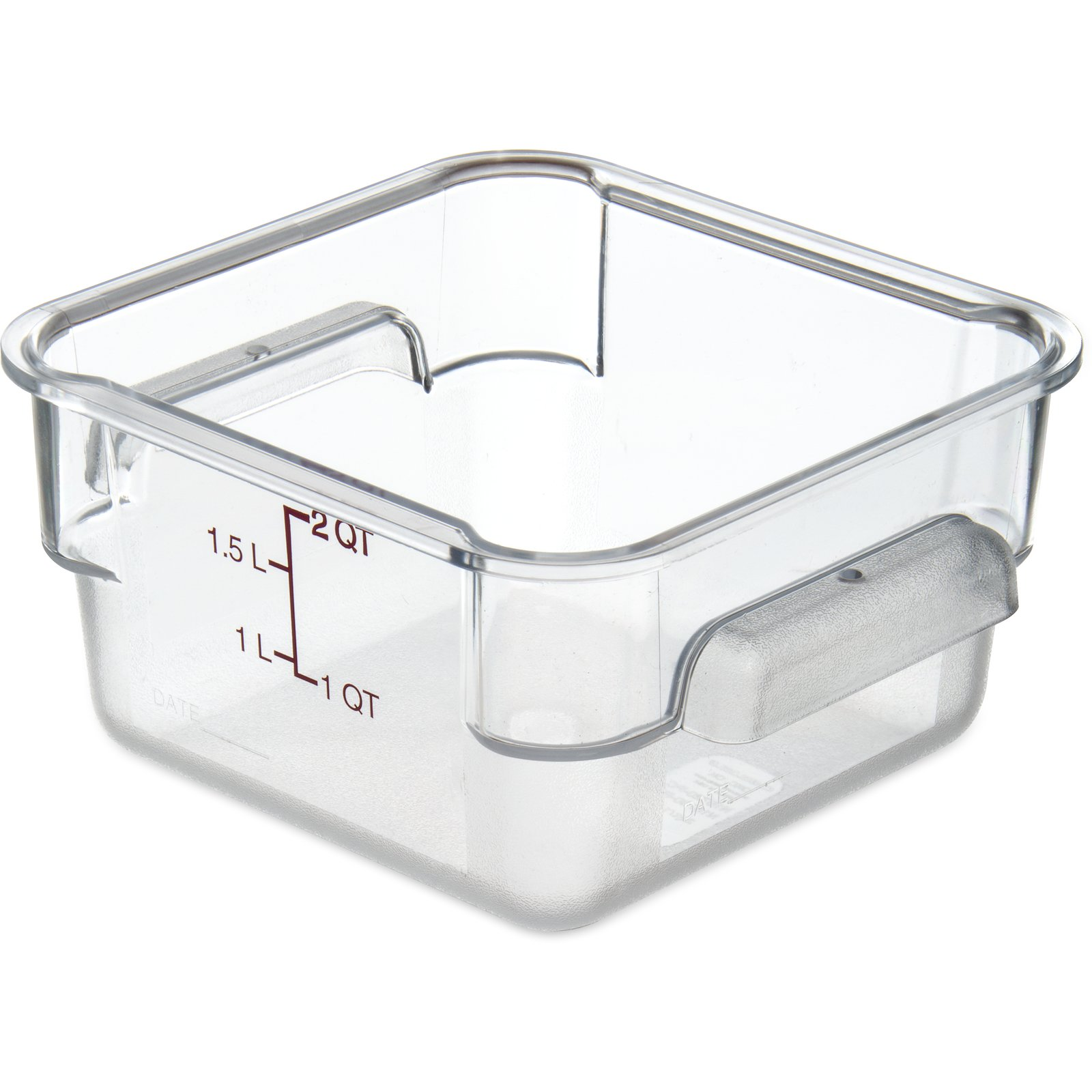 10720AF07 StorPlus Polycarbonate Square Food Storage Container 2