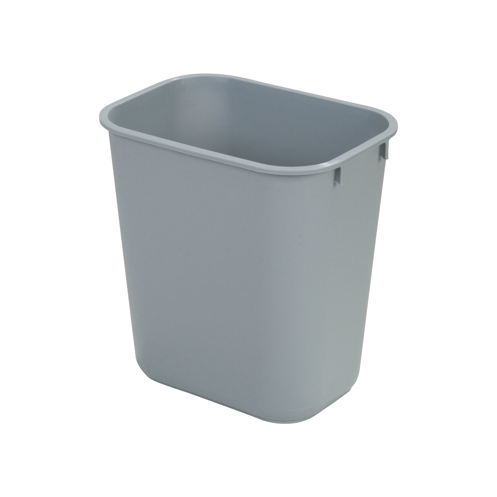 34291323   Small Rectangle Office Wastebasket Trash Can 13 Quart   Gray