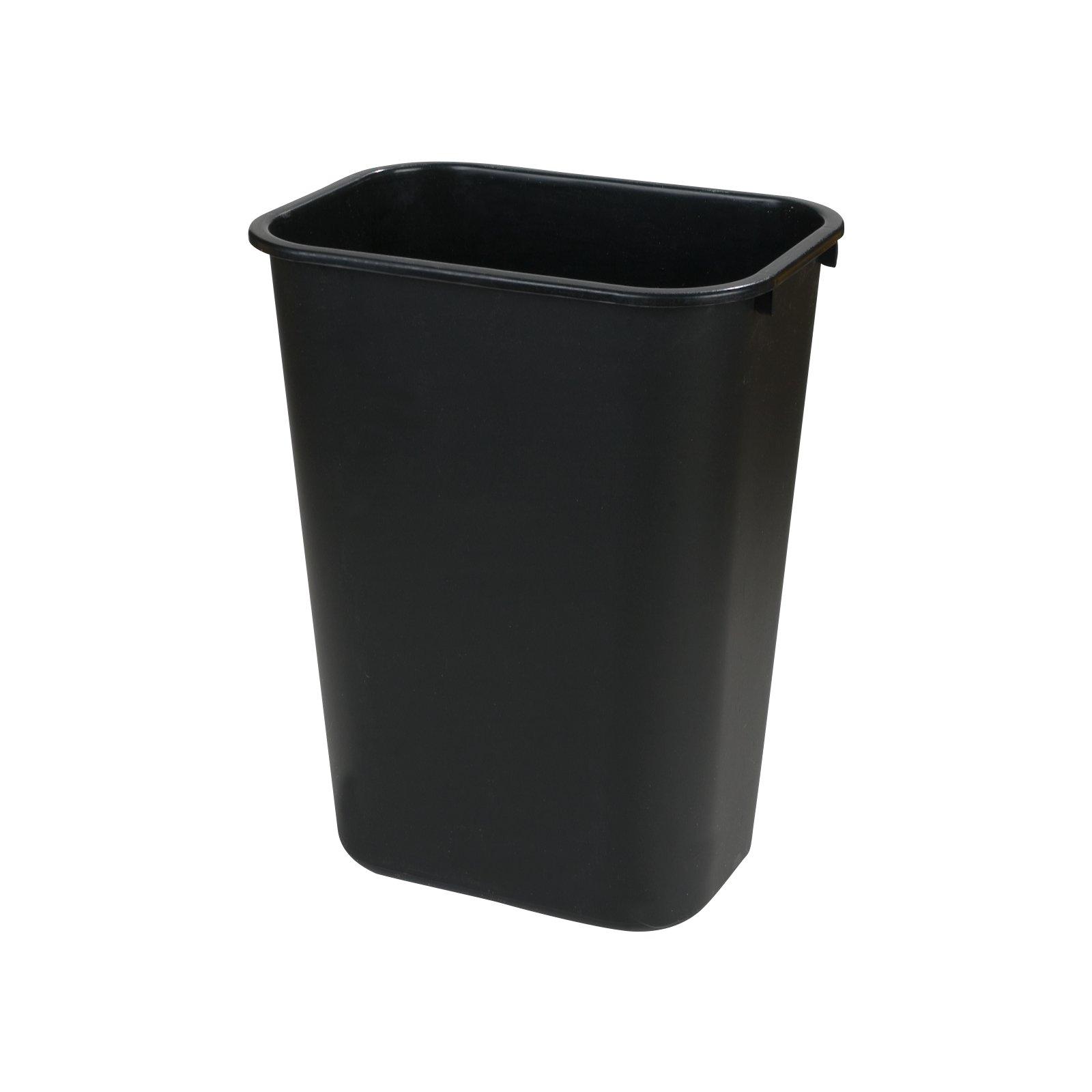 Delightful 34294103   Rectangle Office Wastebasket Trash Can 41 Quart   Black