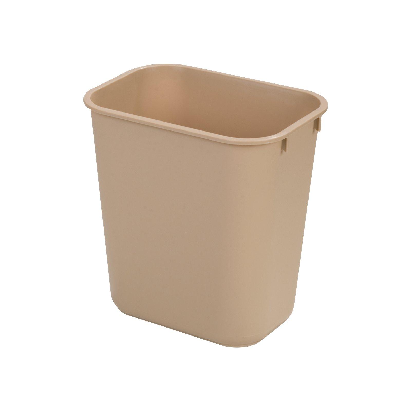 Charmant 34292806   Rectangle Office Wastebasket Trash Can 28 Quart   Beige