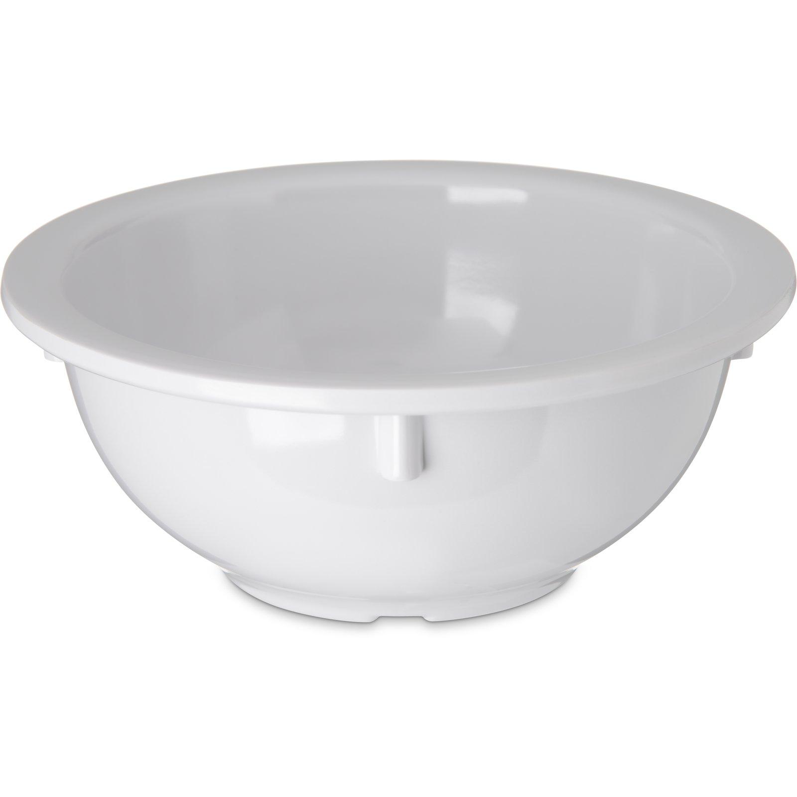 4352202 Dallas Ware Melamine Rimmed Nappie Bowl 14oz White Carlisle Foodservice Products