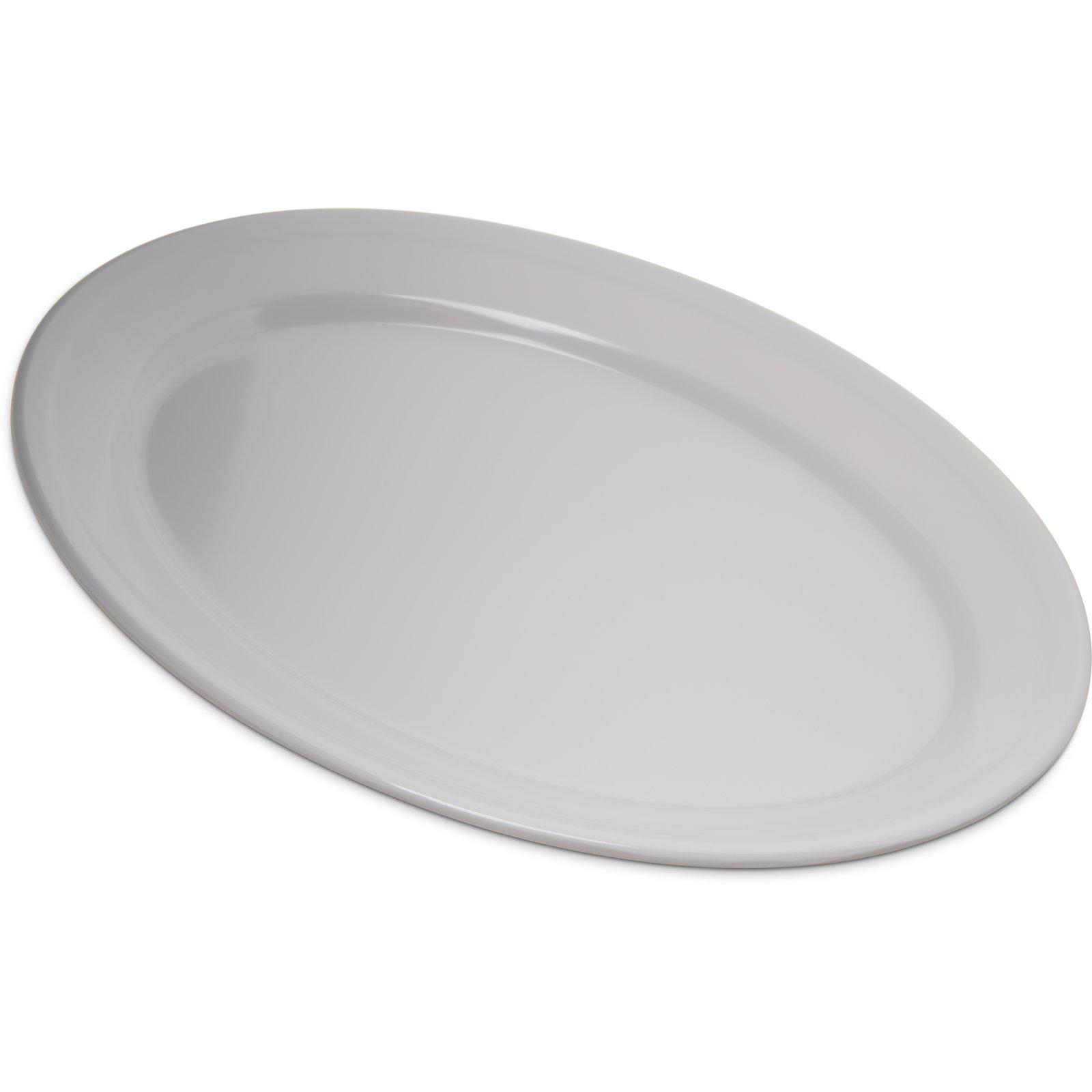 4356002 - Dallas Ware® Melamine Oval Platter Tray 12  x 8.5  - White  sc 1 st  Carlisle FoodService Products & 4356002 - Dallas Ware® Melamine Oval Platter Tray 12