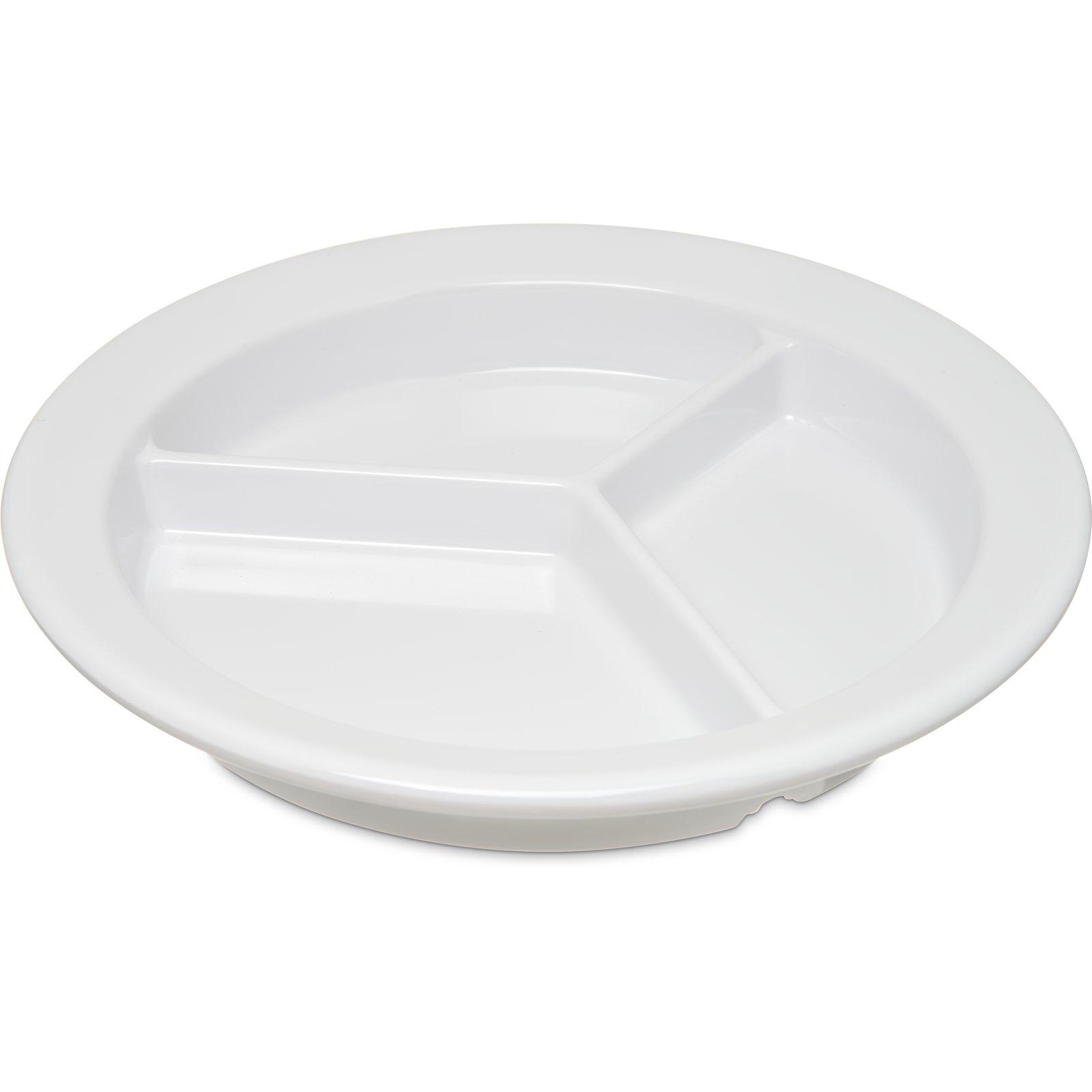 4351602 - Dallas Ware® Melamine 3-Compartment Deep Plate 9\
