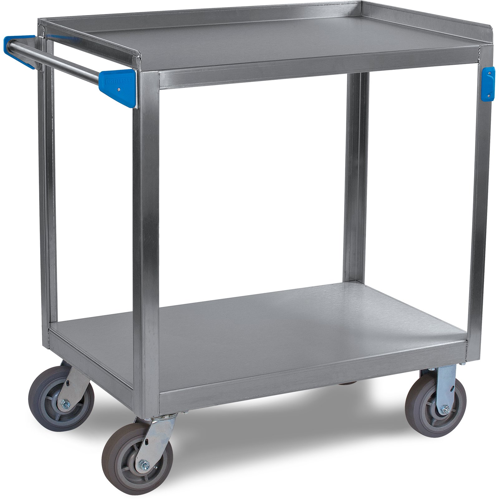 Uc7022133 Stainless Steel 2 Shelf Utility Cart 21 X 33 Stainless Steel Carlisle Foodservice Products