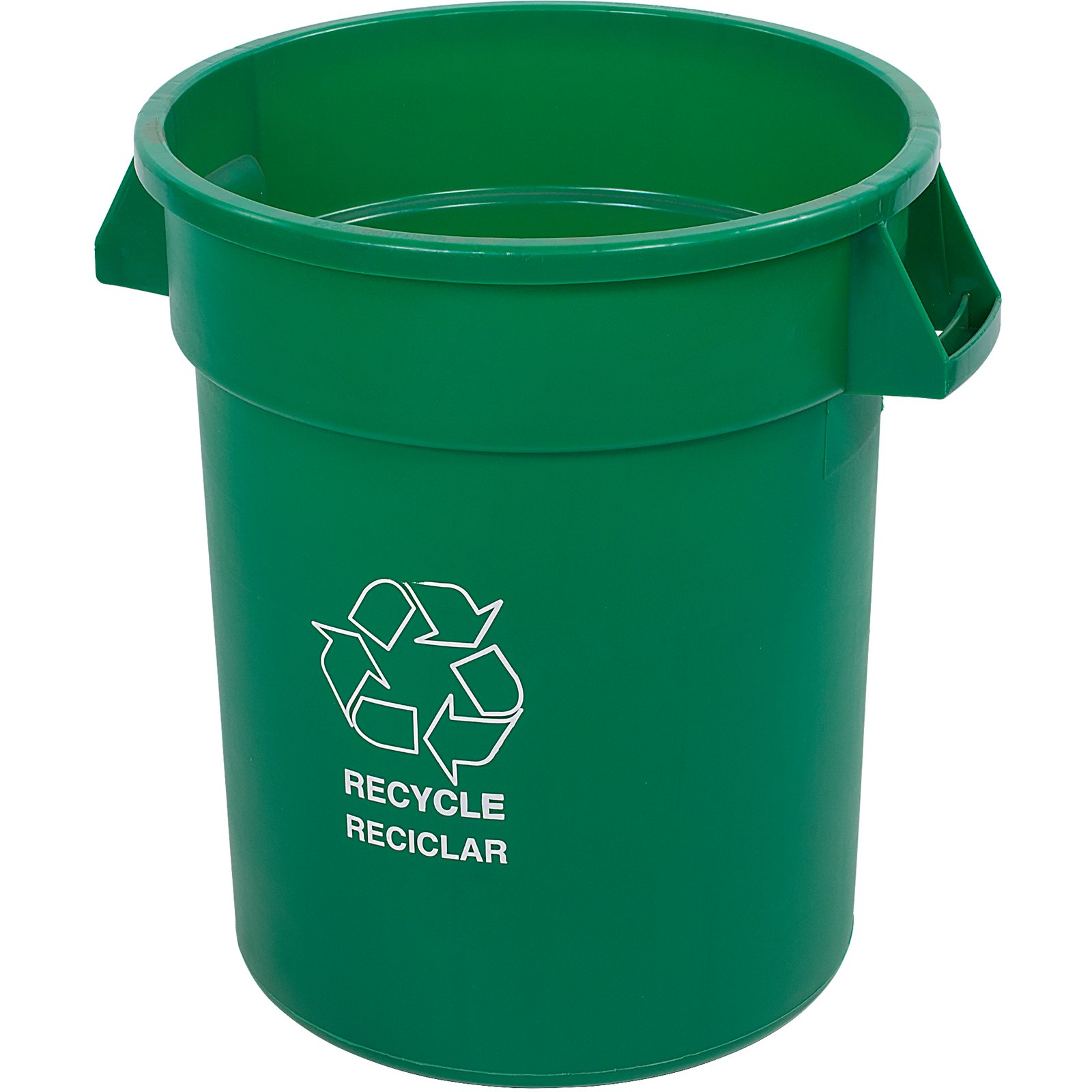 341020REC09 - Bronco™ Round RECYCLE Container 20 Gallon - Green ...