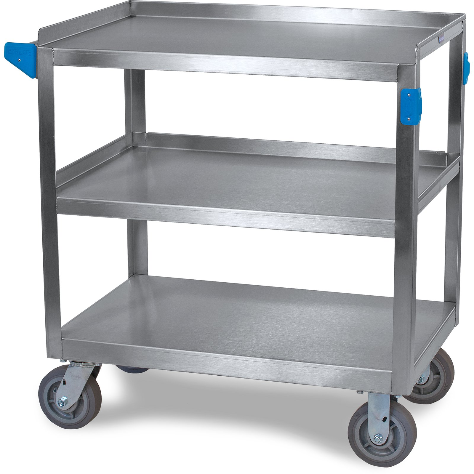 Uc7032133 Stainless Steel 3 Shelf Utility Cart 21 X 33 Stainless Steel Carlisle Foodservice Products