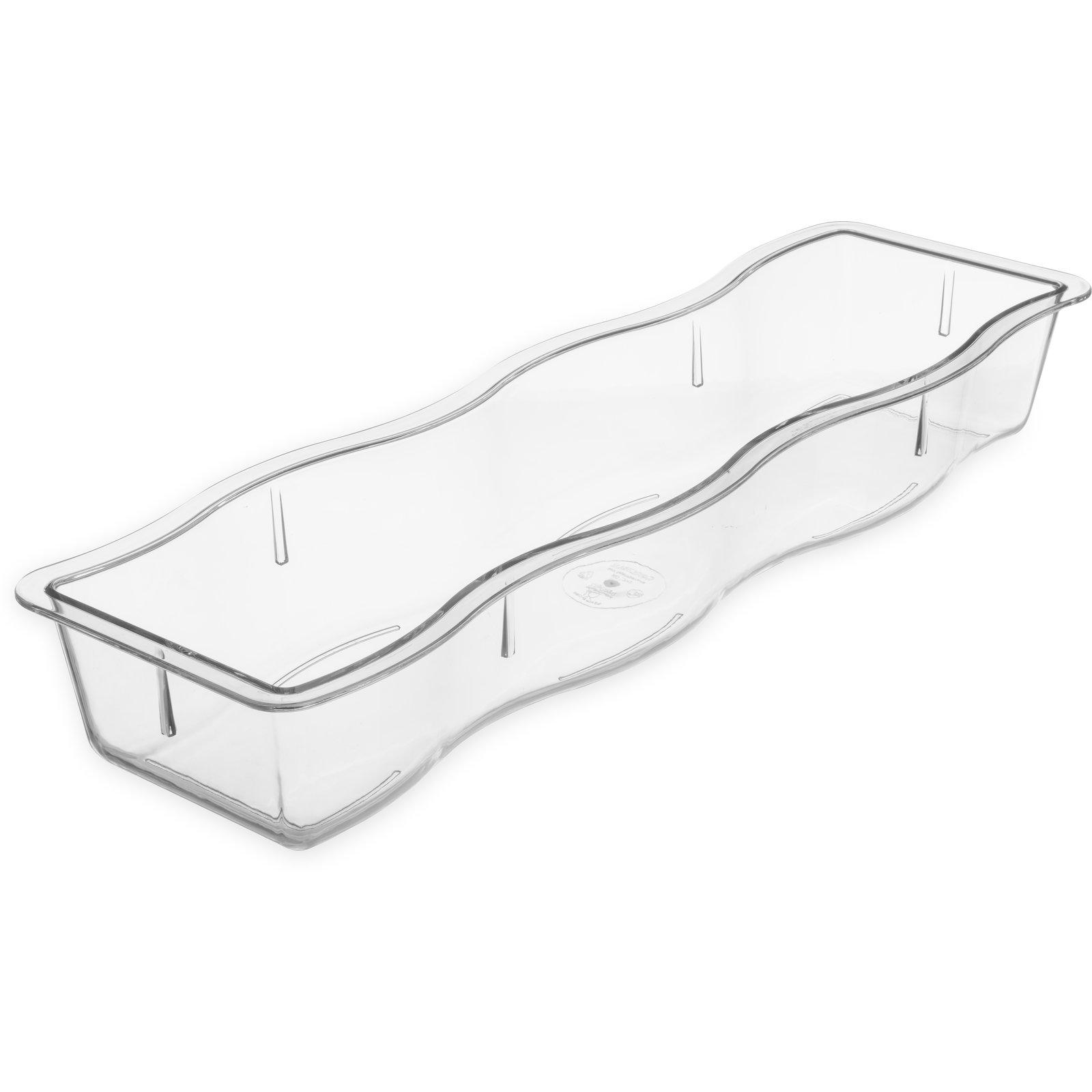 698207 Modular Displayware Half Long Pan Wavy Edge 2 1 2 Deep Clear Carlisle Foodservice Products