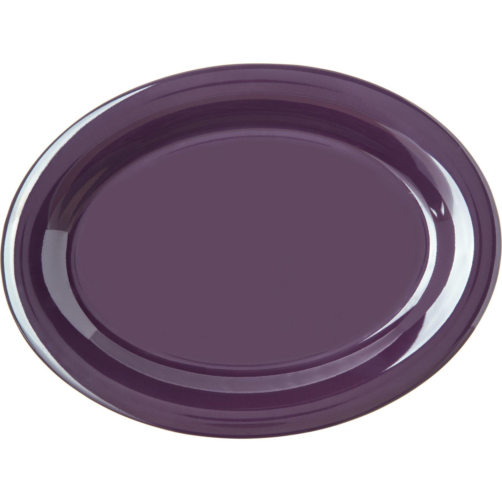 ... 4308268 - Durus® Melamine Oval Platter Tray 12  x 9  - Napoli Plum  sc 1 st  Carlisle FoodService Products & 4308268 - Durus® Melamine Oval Platter Tray 12