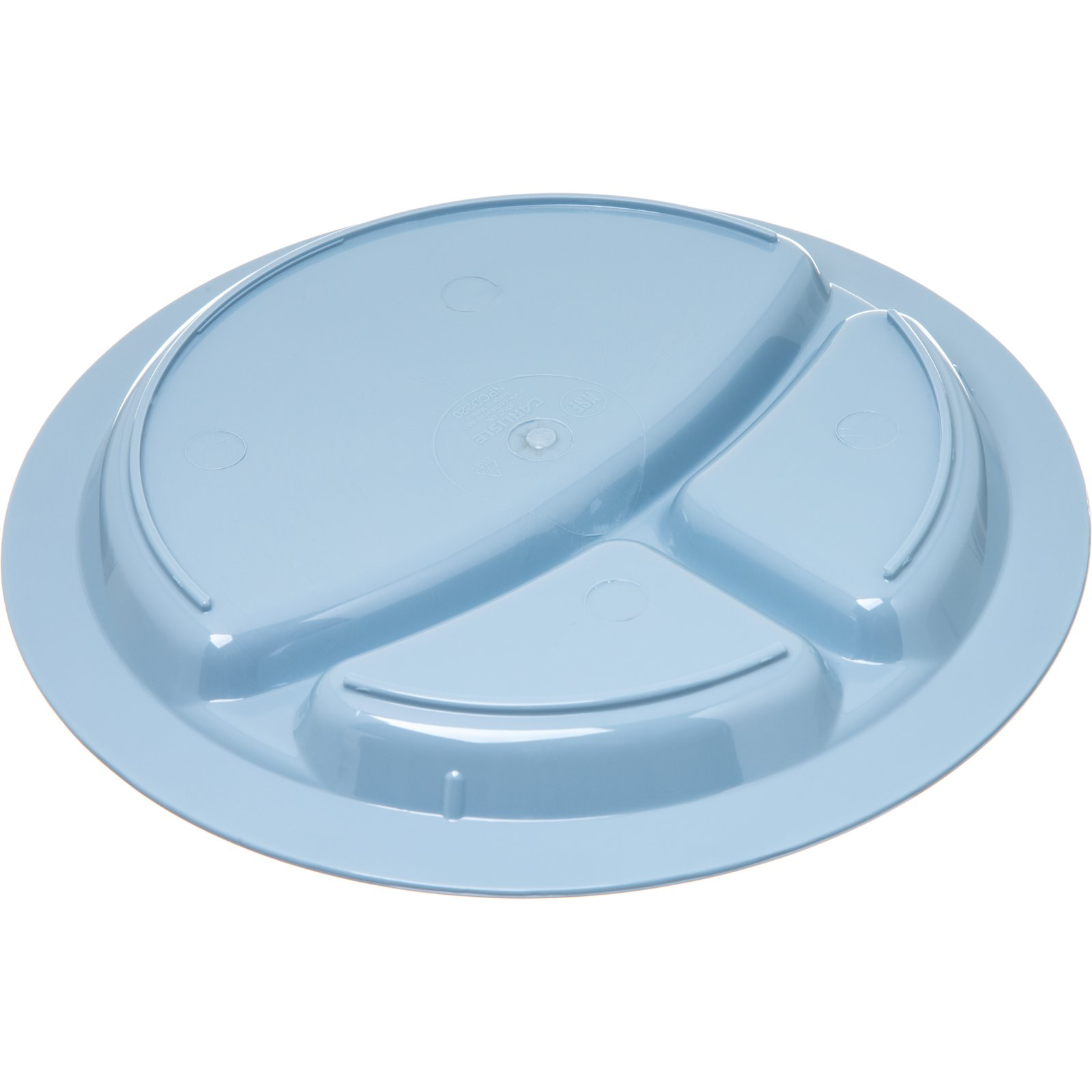 ... PCD22059 - Polycarbonate Narrow Rim 3-Compartment Plate 9\  - Slate Blue  sc 1 st  Carlisle FoodService Products & PCD22059 - Polycarbonate Narrow Rim 3-Compartment Plate 9\