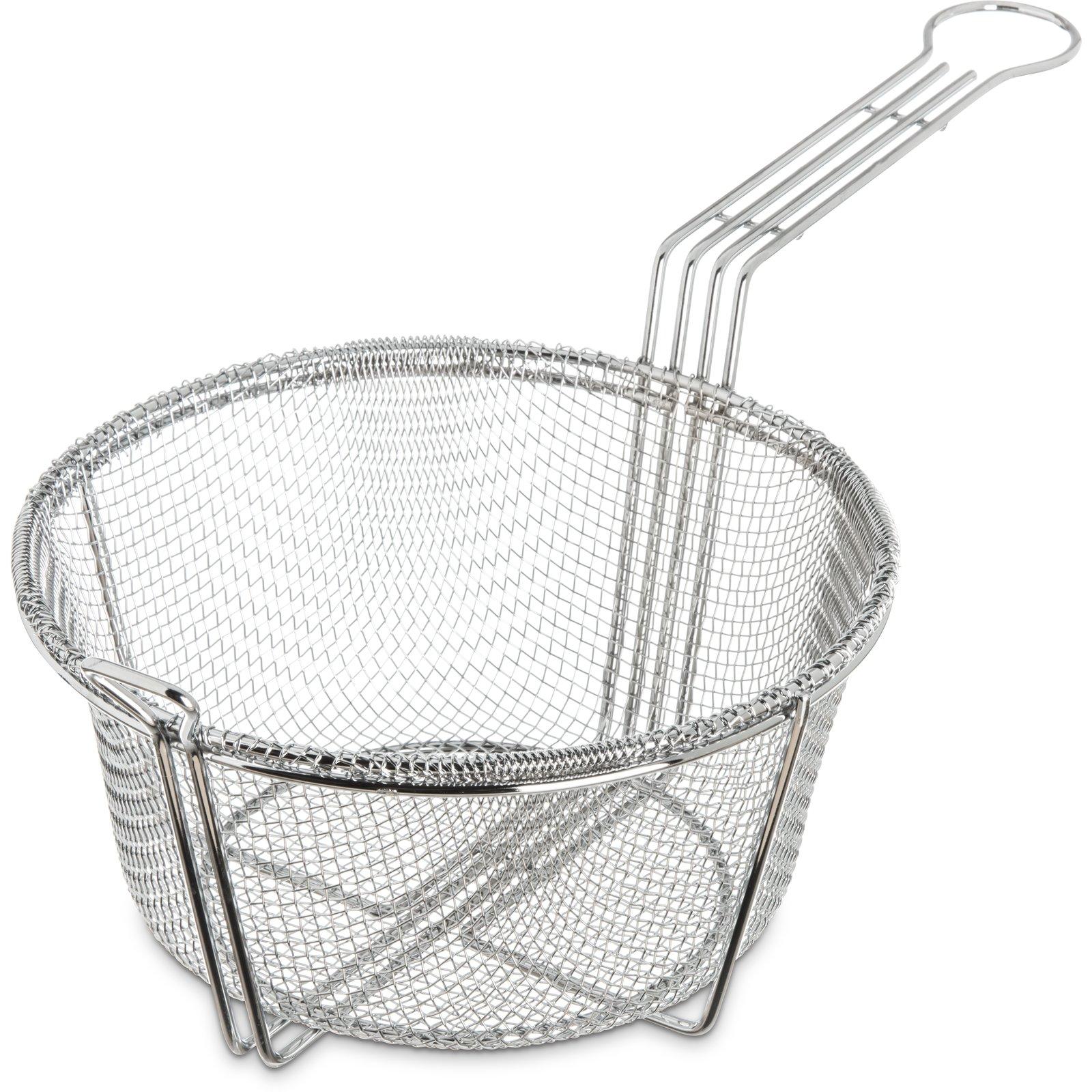 601000 Mesh Fryer Basket 8 3 4 Chrome Carlisle Foodservice Products