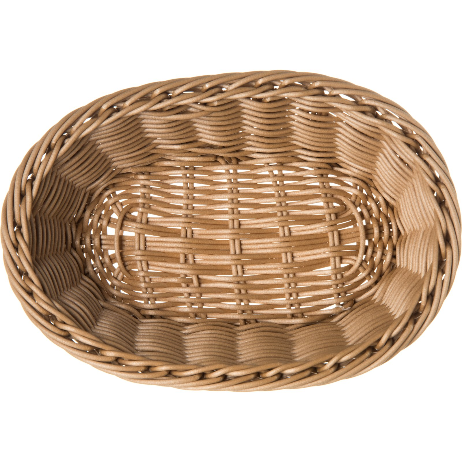 655025 Woven Baskets Oval Basket Small 9 Caramel Carlisle Foodservice Products