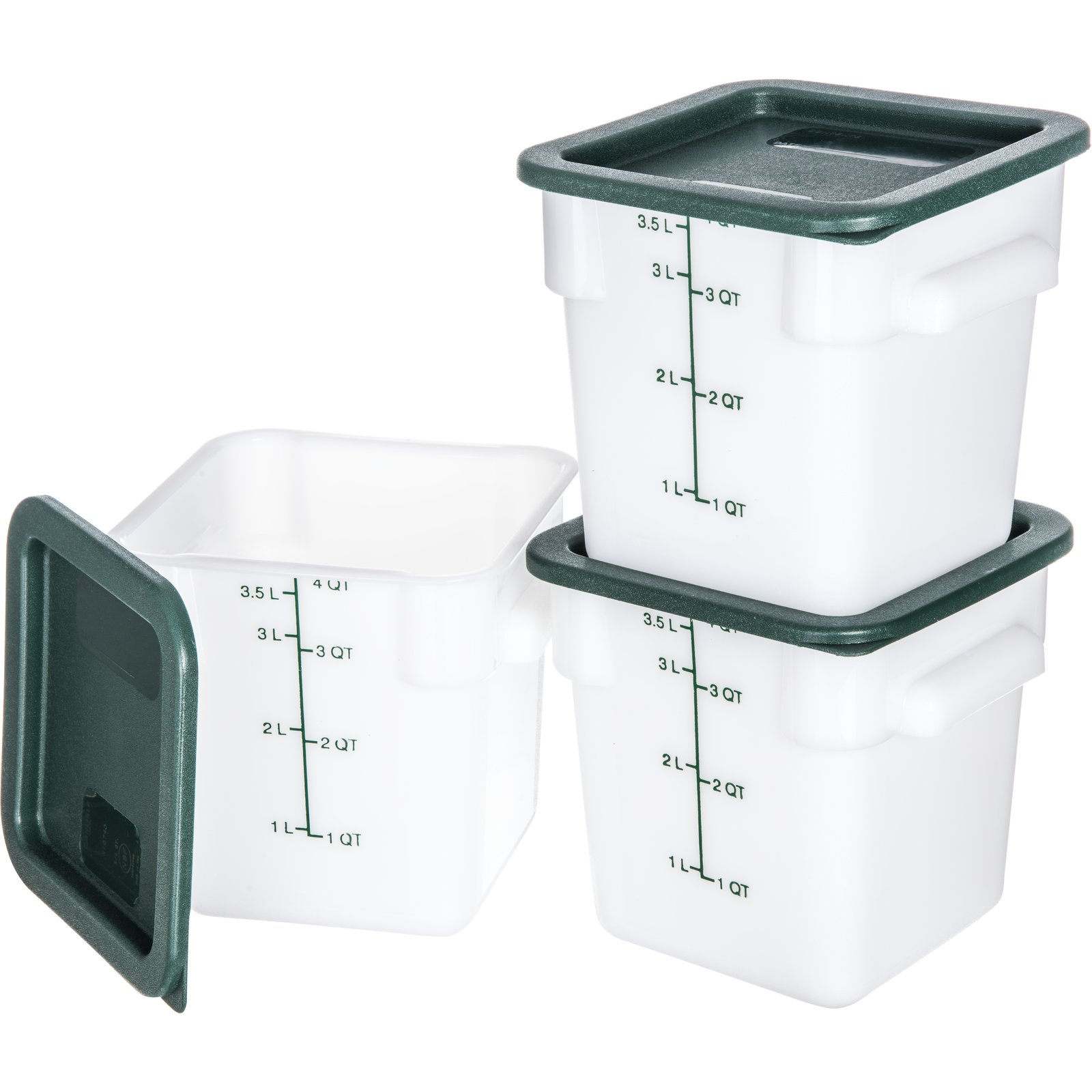10731-302 - StorPlus™ 3-Pack Polyethylene Square Containers & Lids 4