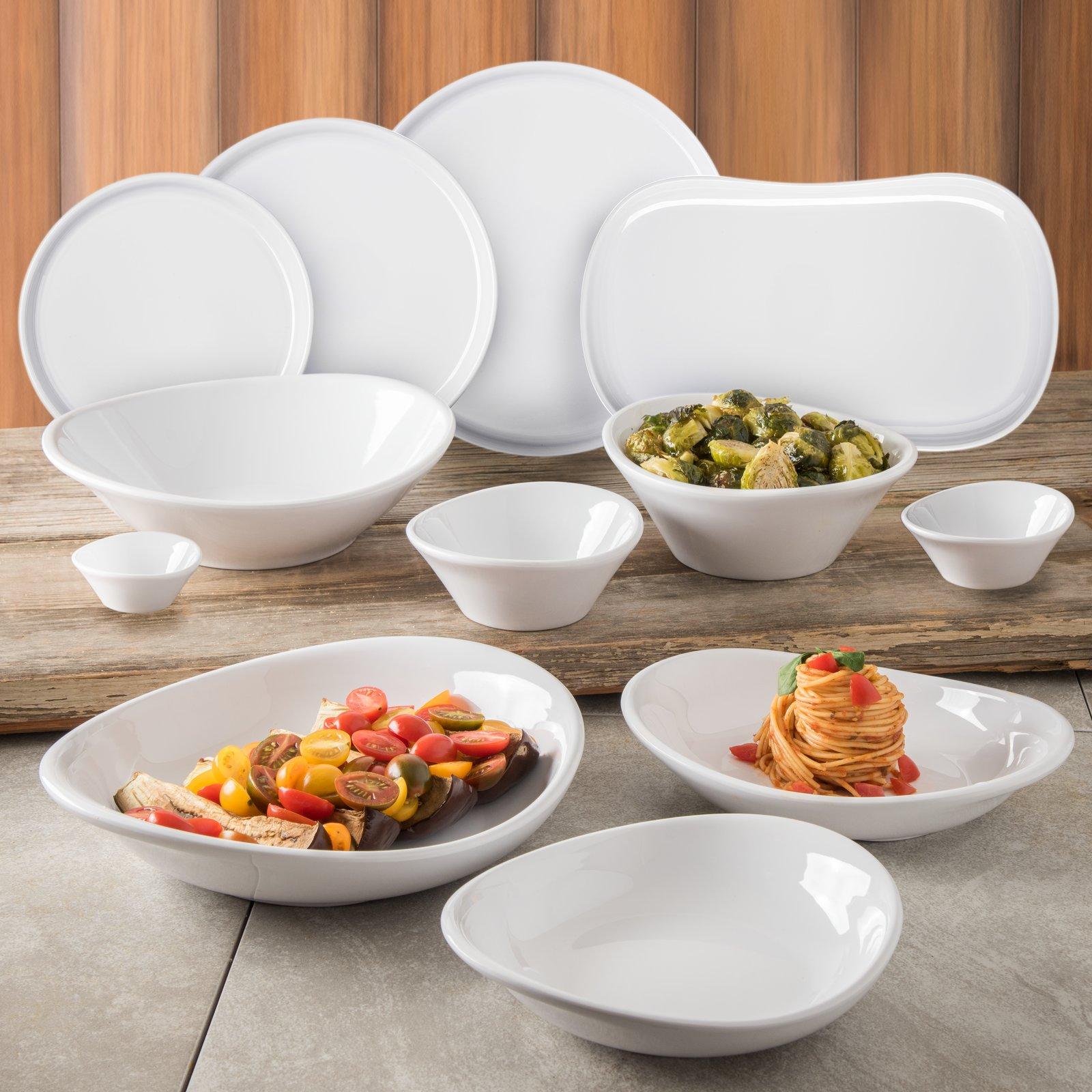 5300902 Stadia Melamine Platter 13 X 7 White Carlisle Foodservice Products