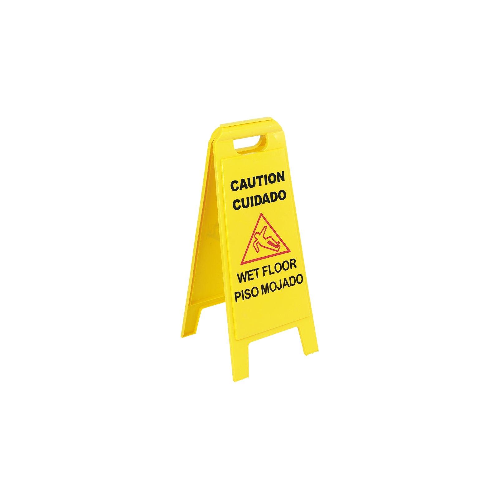 commercial yel sign wet caution rubbermaid original floor