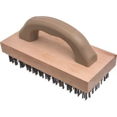 40676 4 X 9 Butcher Block Brush W Flat Steel Bristles Available In 1 Color