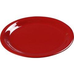 4300402 Durus Melamine Narrow Rim Dinner Plate 9 White Carlisle Foodservice Products